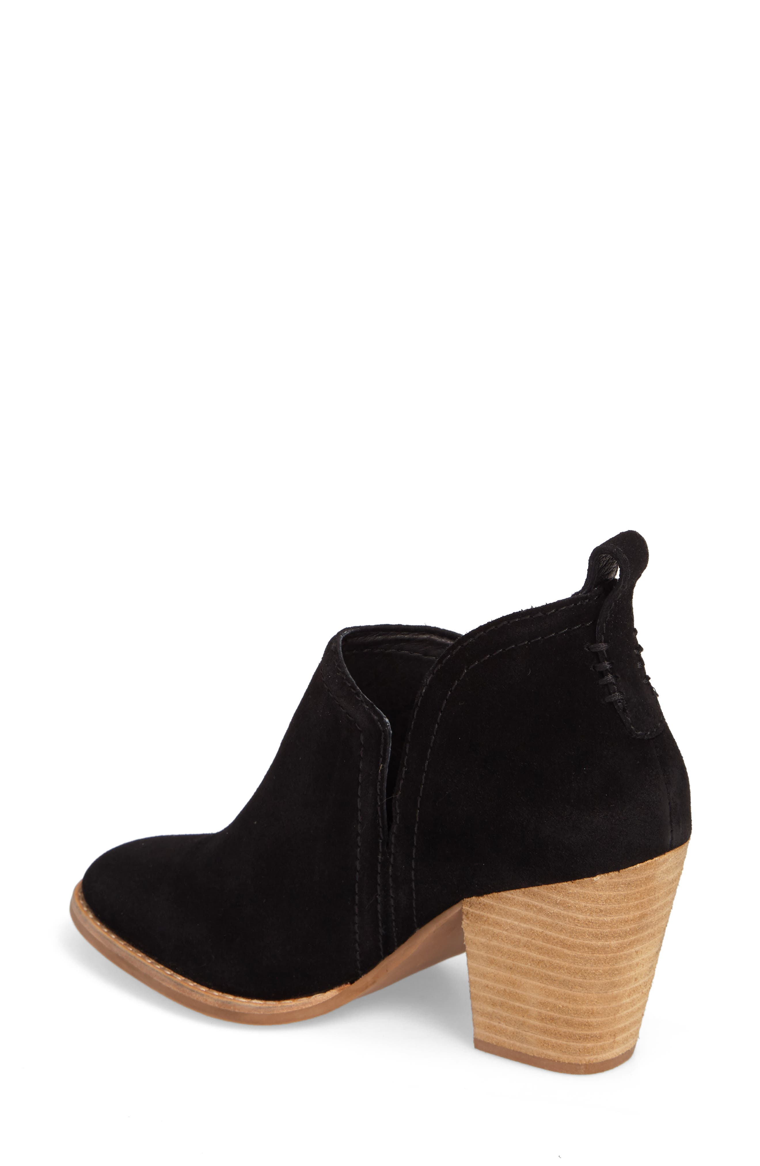 Rosalee Bootie,                             Alternate thumbnail 2, color,                             BLACK OILED SUEDE