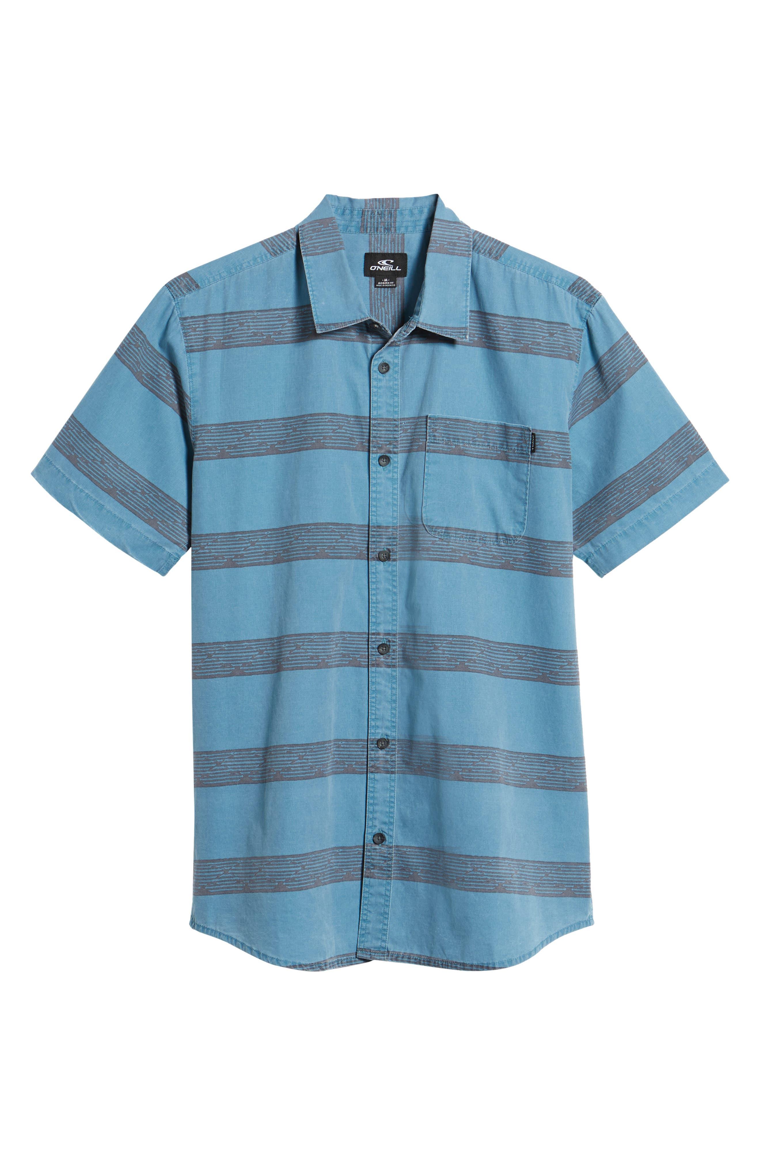 Wagner Woven Shirt,                             Alternate thumbnail 6, color,                             DEEP TEAL