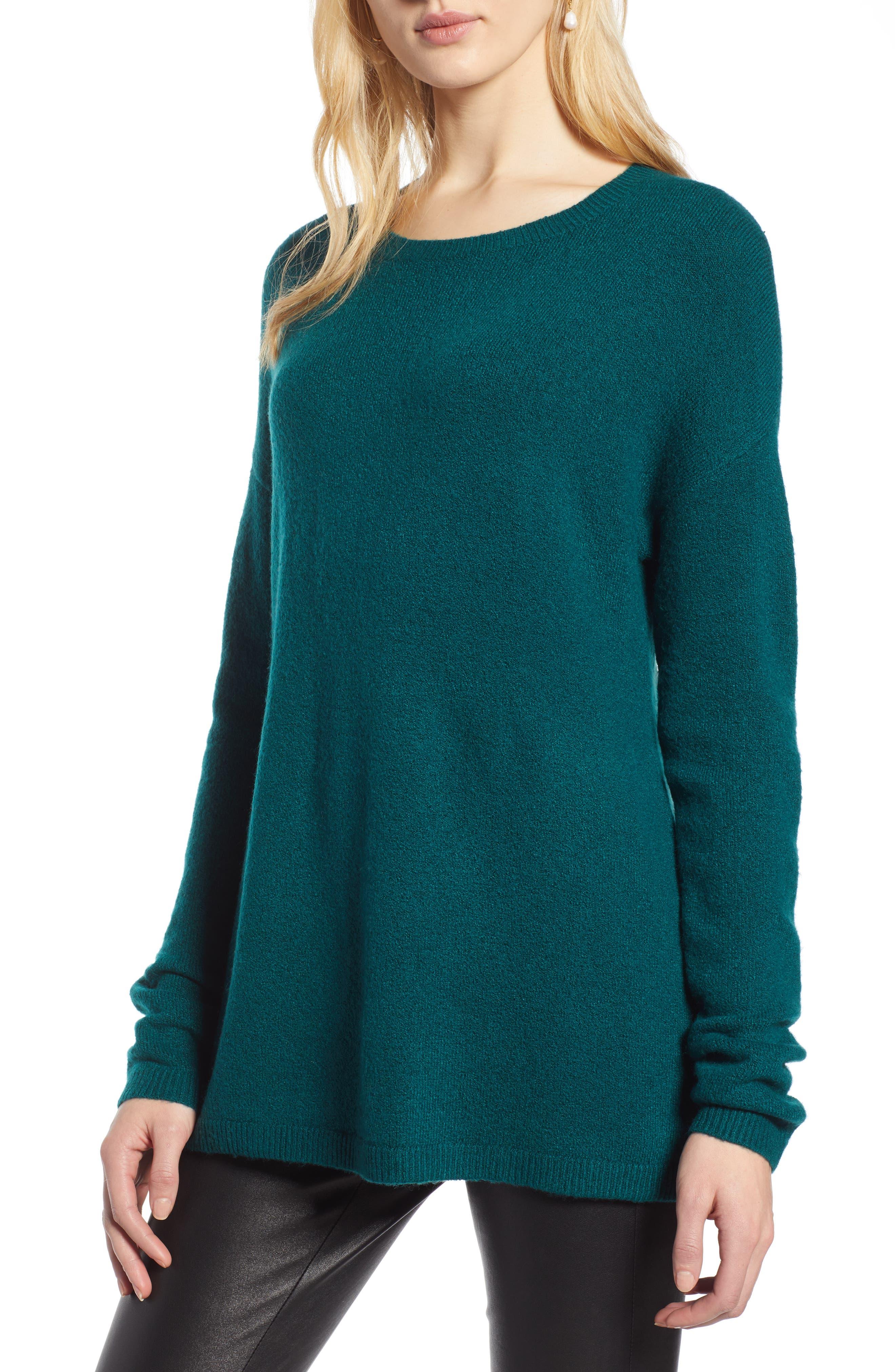 Bow Back Sweater,                             Main thumbnail 1, color,                             GREEN BOTANICAL
