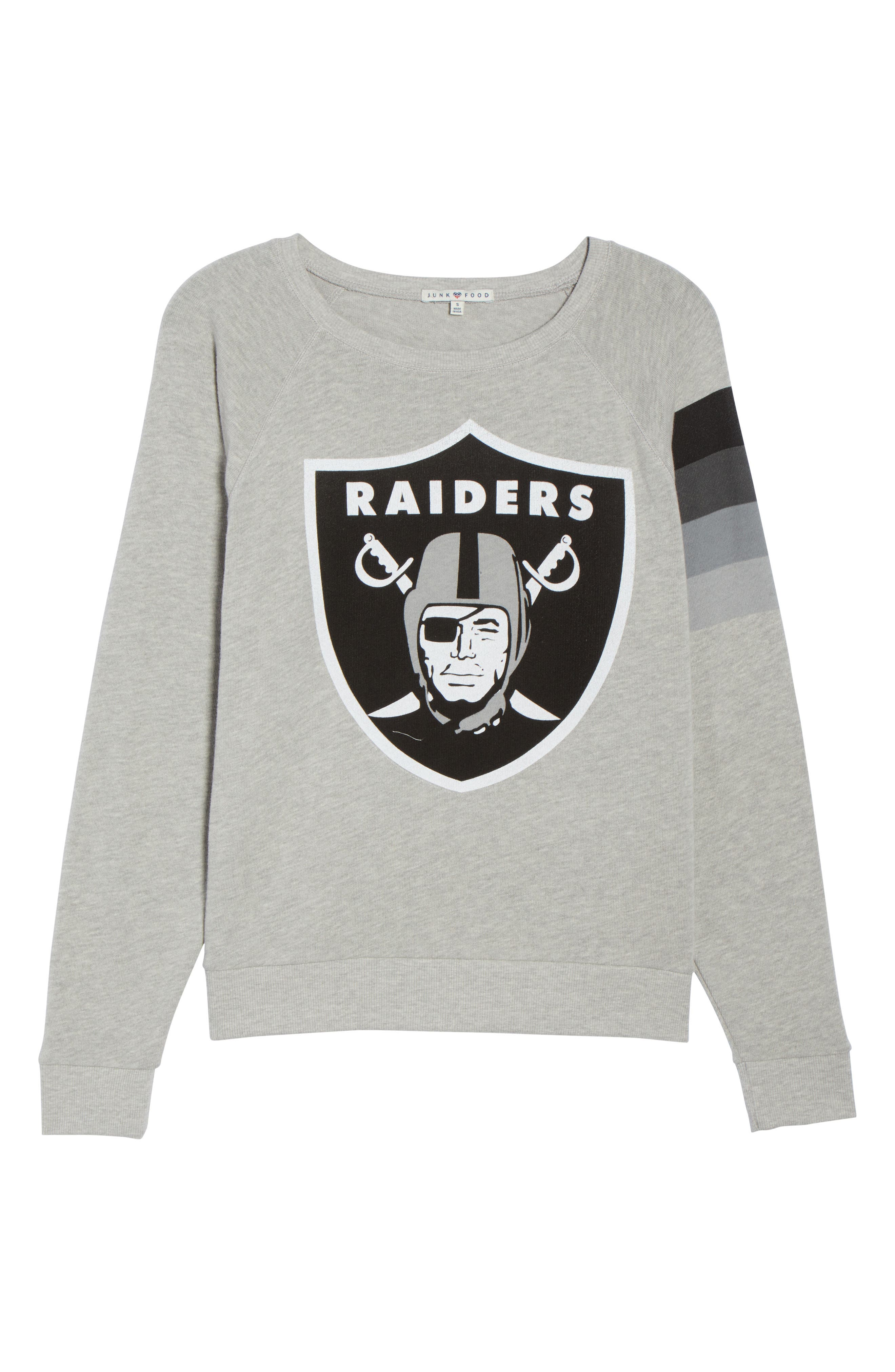 NFL Oakland Raiders Hacci Sweatshirt,                             Alternate thumbnail 6, color,