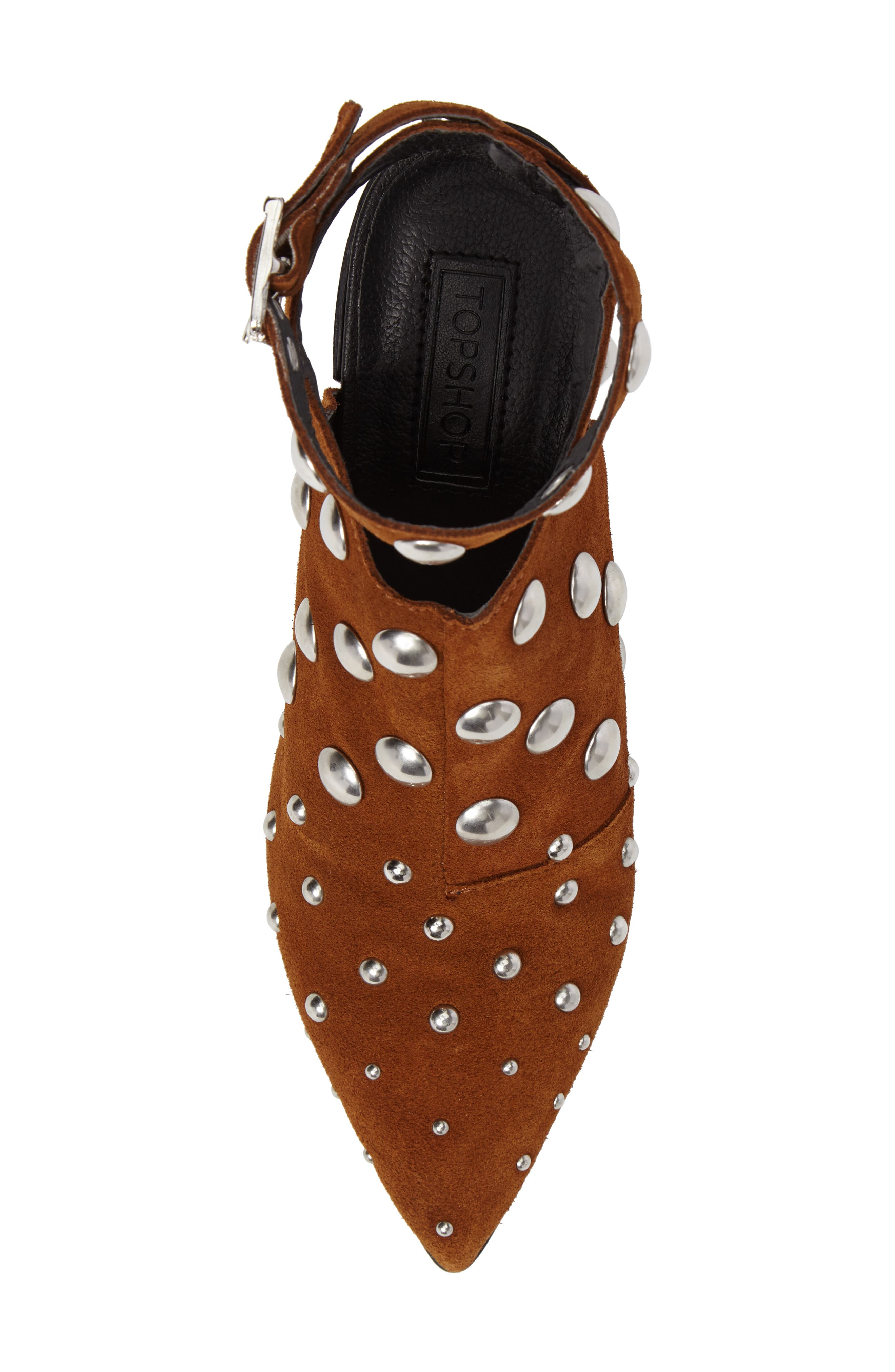 Madness Studded Wraparound Bootie,                             Alternate thumbnail 9, color,