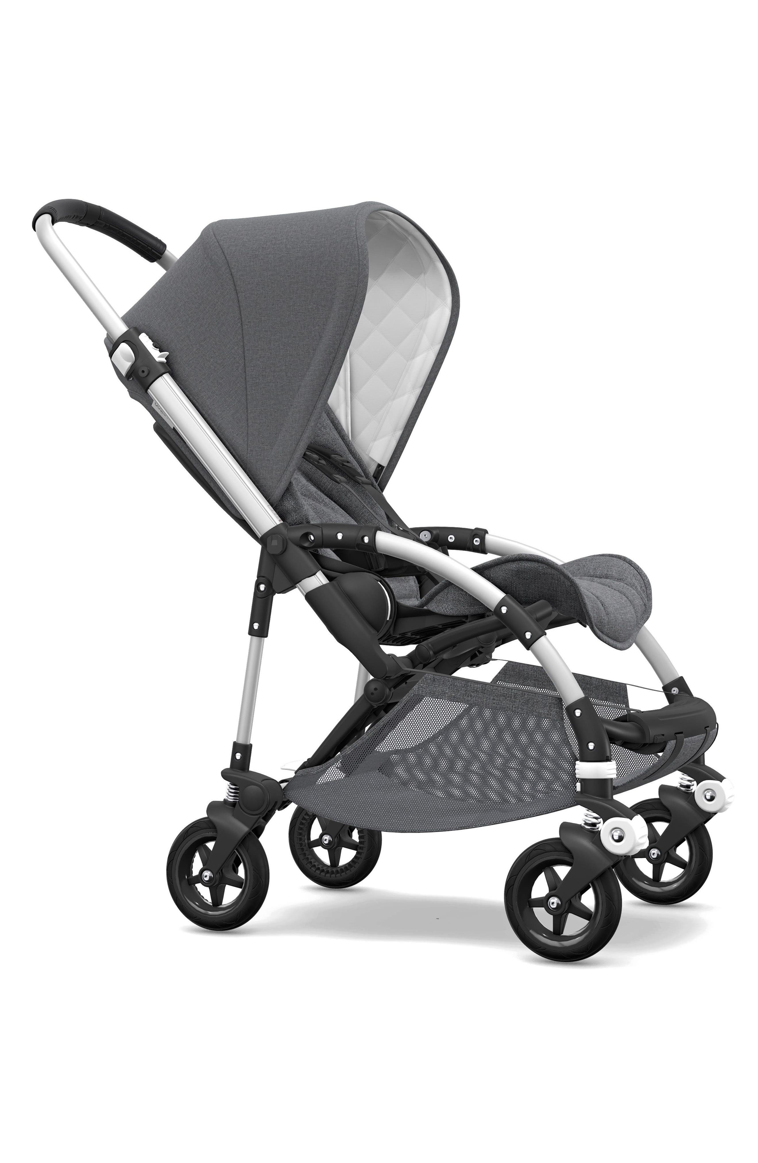 Bee5 Classic Complete Stroller,                         Main,                         color, GREY MELANGE/ ALUMINUM