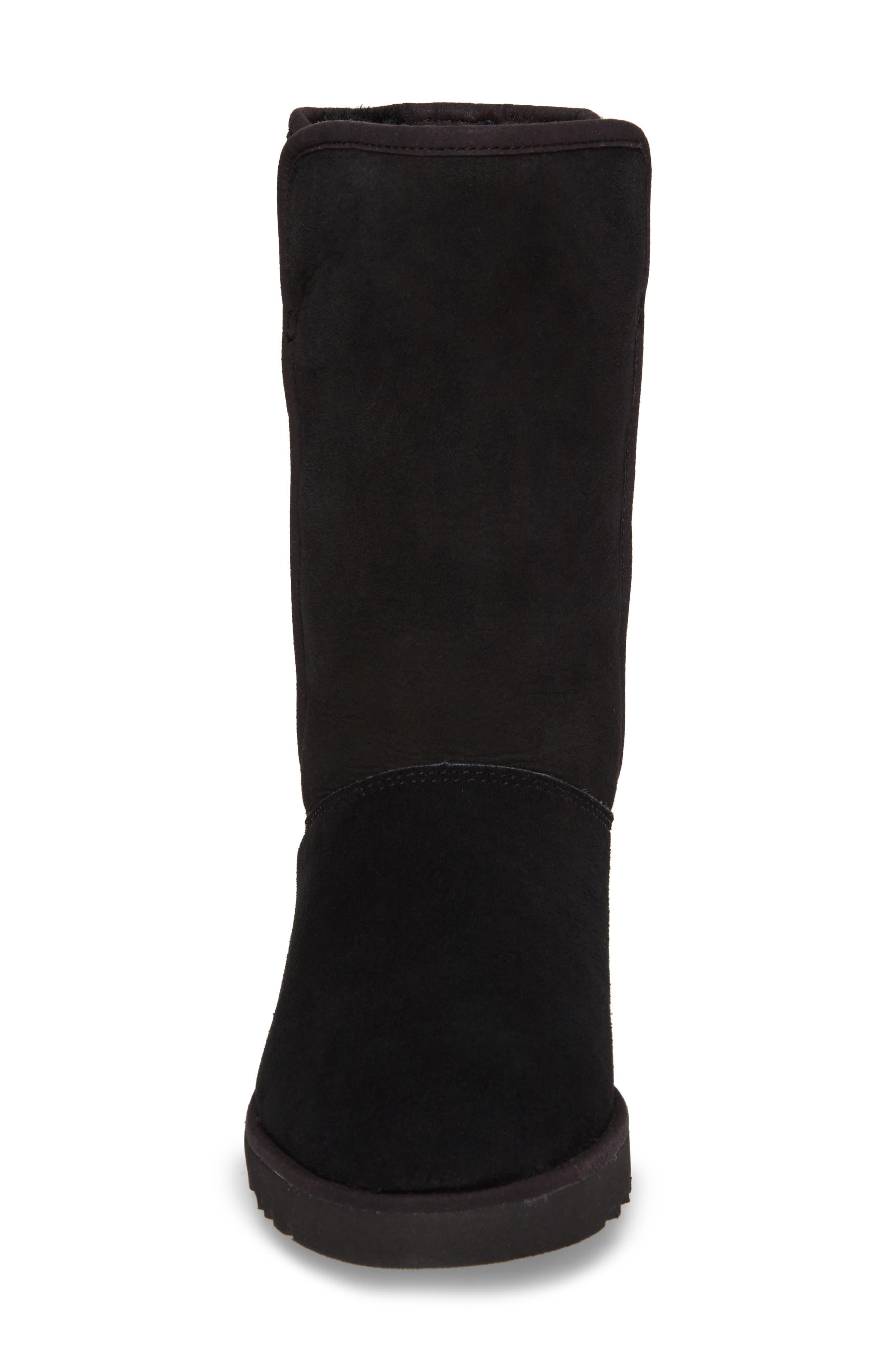 'Michelle' Boot,                             Alternate thumbnail 4, color,                             BLACK SUEDE