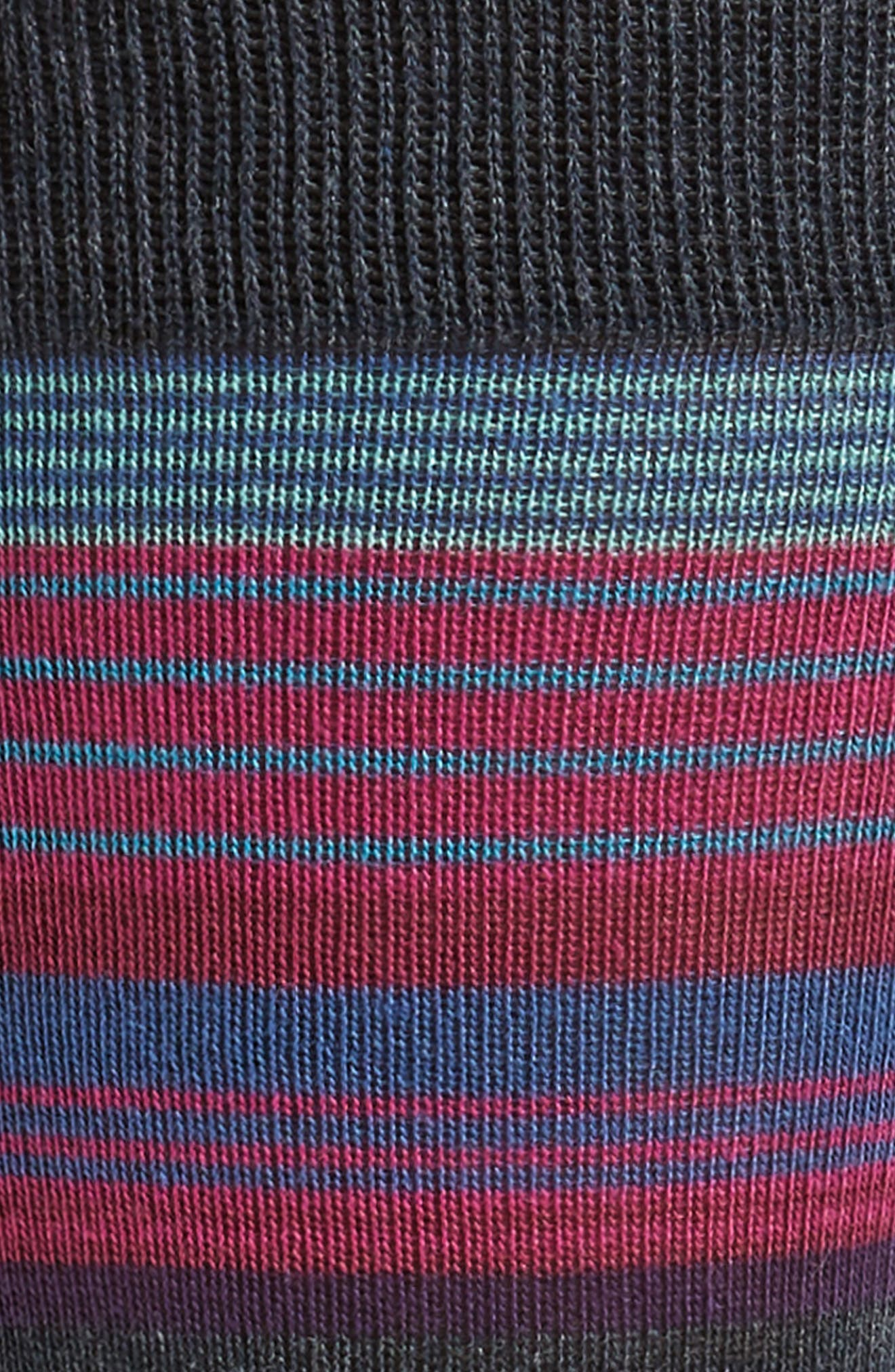 Variegated Stripes Socks,                             Alternate thumbnail 2, color,                             410