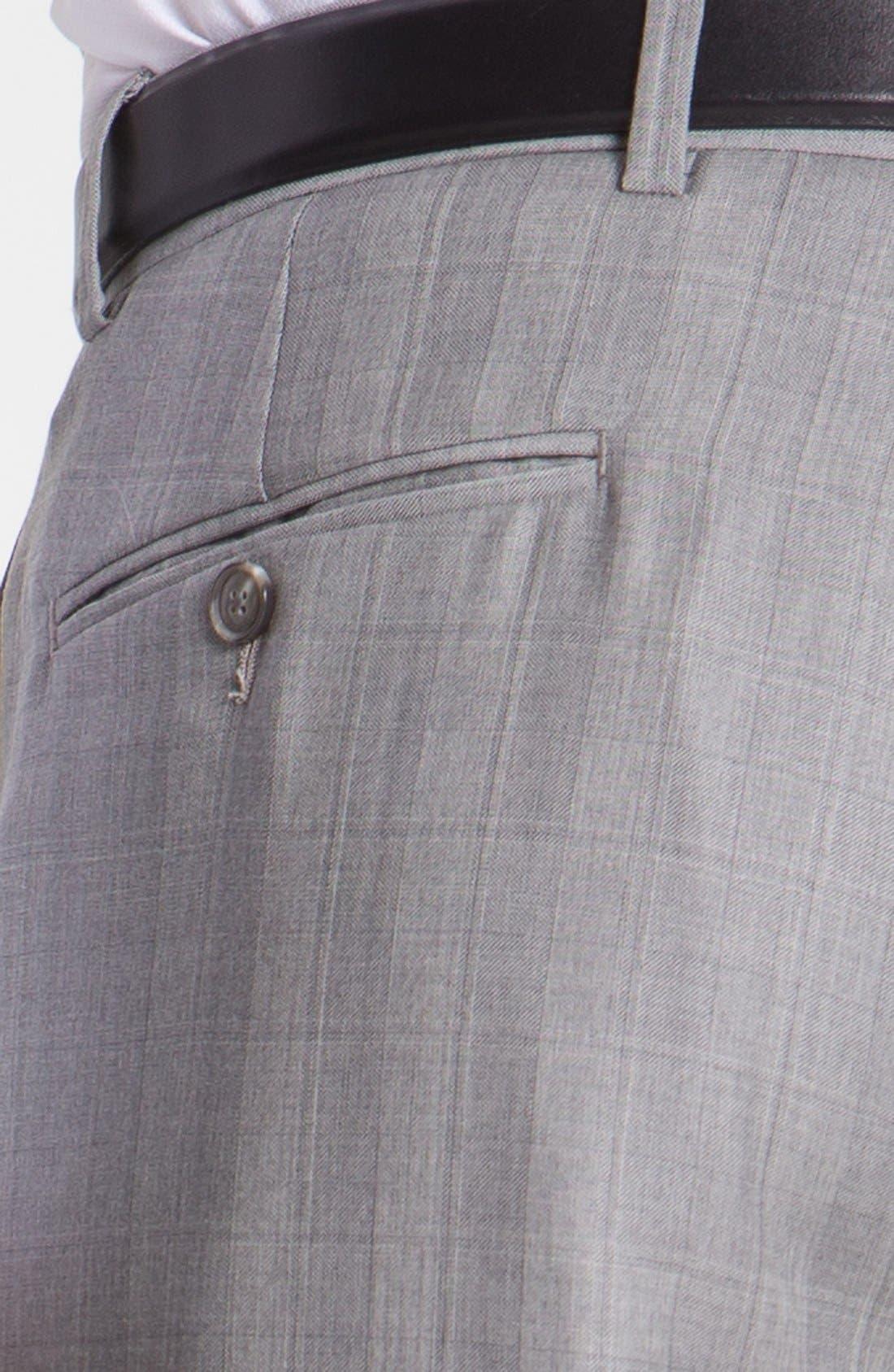 JOSEPH ABBOUD,                             'Platinum' Double Breasted Suit,                             Alternate thumbnail 6, color,                             050