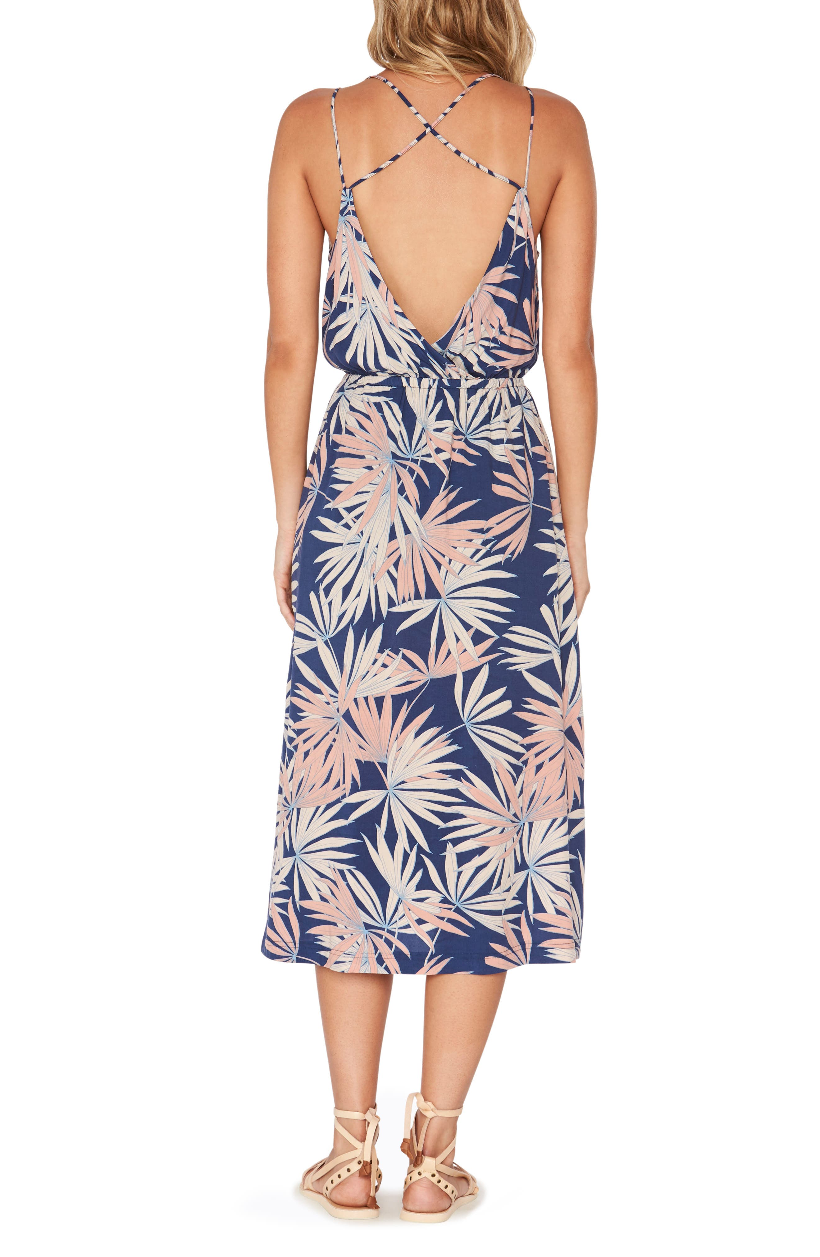 Tori Palm Print Cover-Up Slipdress,                             Alternate thumbnail 2, color,                             410