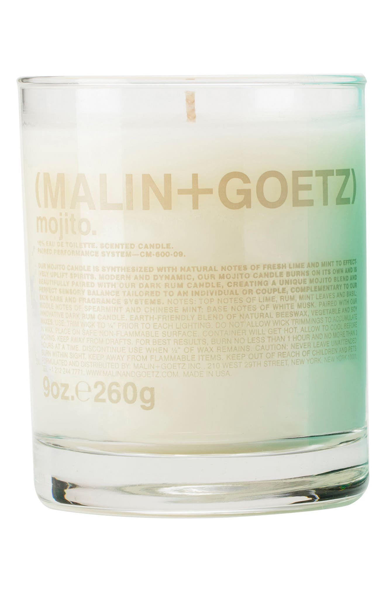 Malin + Goetz Candle,                         Main,                         color, MOJITO