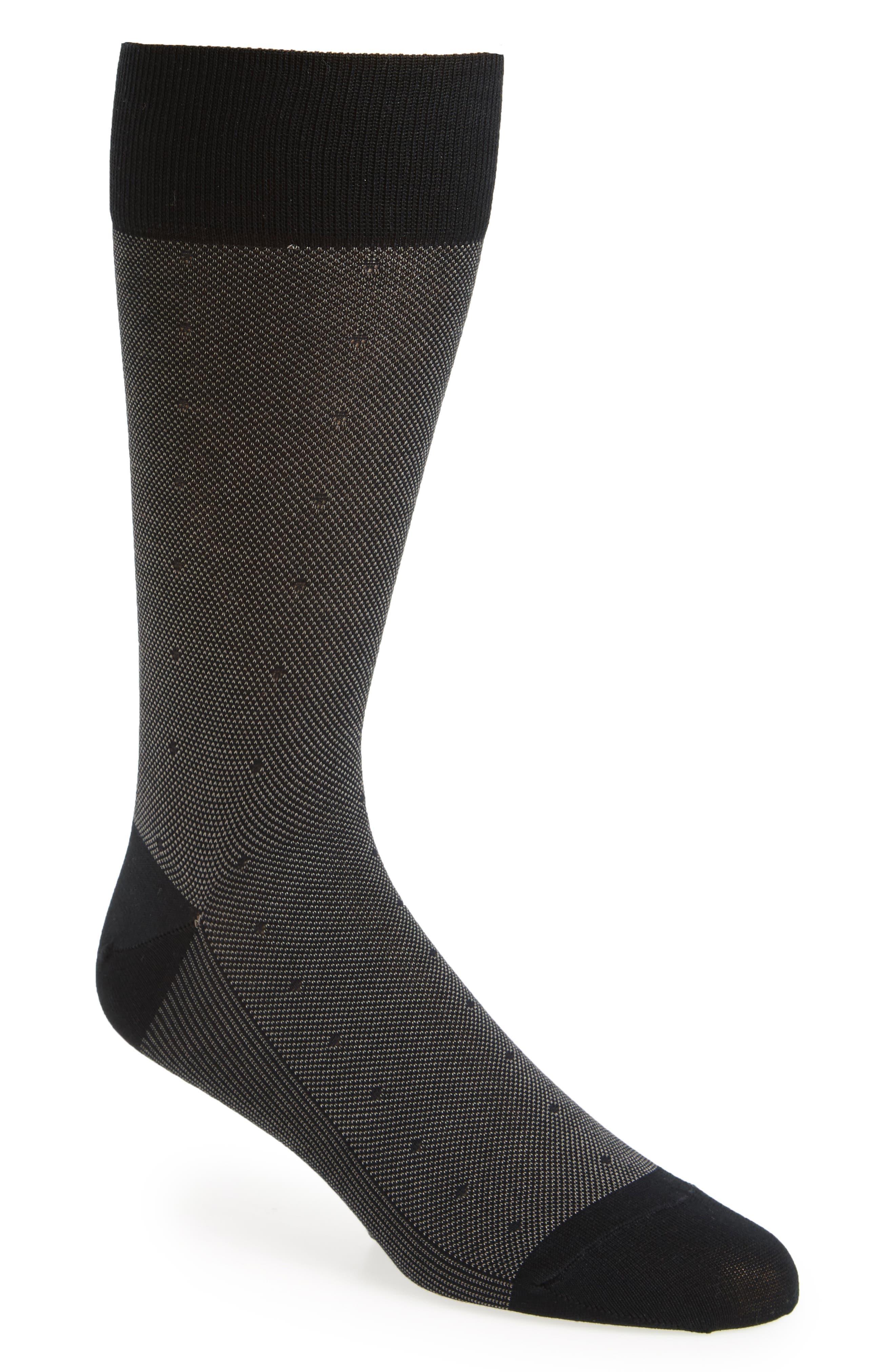 Mercerized Piqué Dot Socks,                             Main thumbnail 1, color,                             021