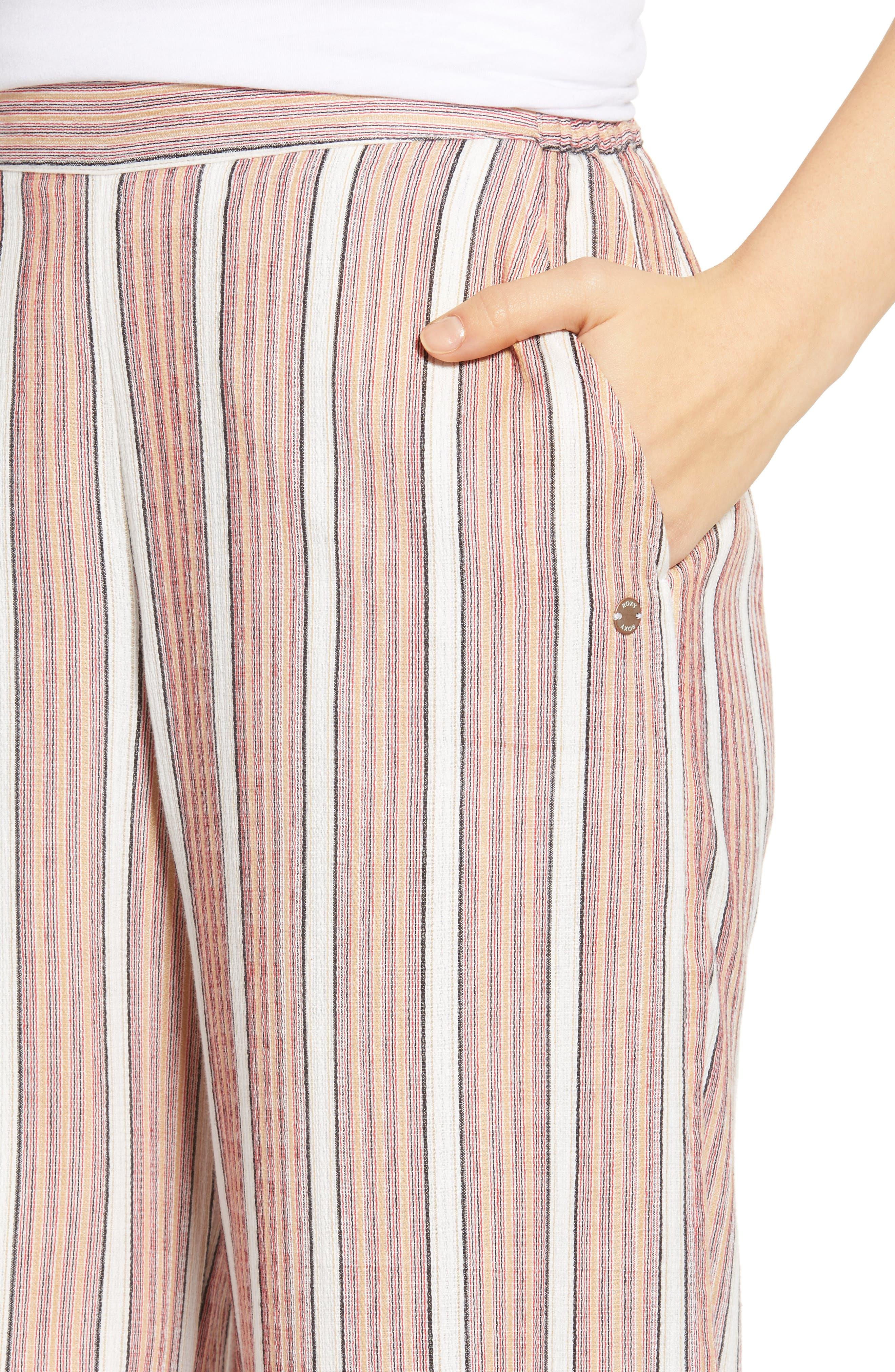 Midnight Avenue Stripe Pants,                             Alternate thumbnail 4, color,                             AMERICAN BEAUTY MULTI STRIPES