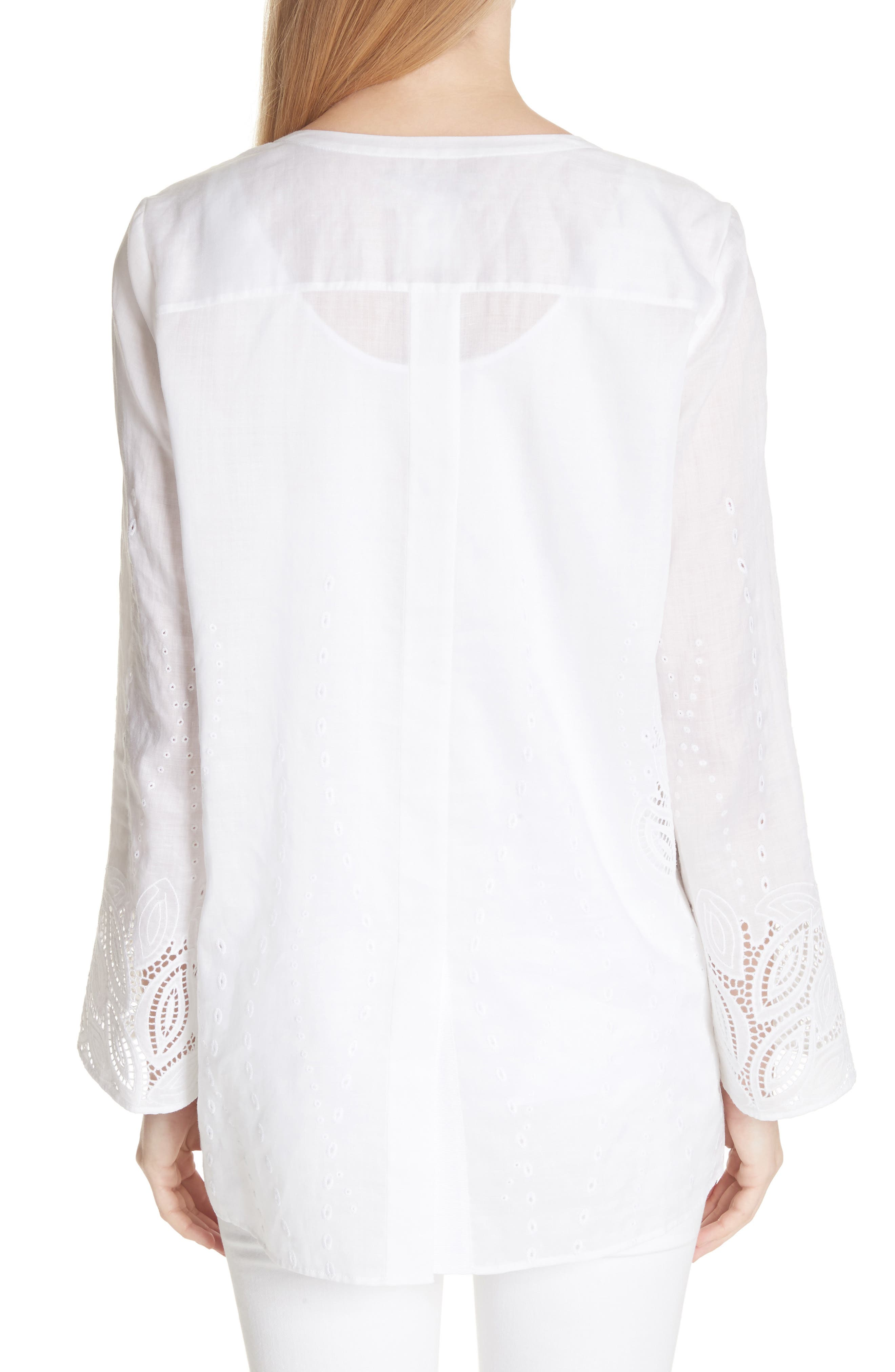 Haisley Embroidered Gemma Cloth Blouse,                             Alternate thumbnail 2, color,                             100