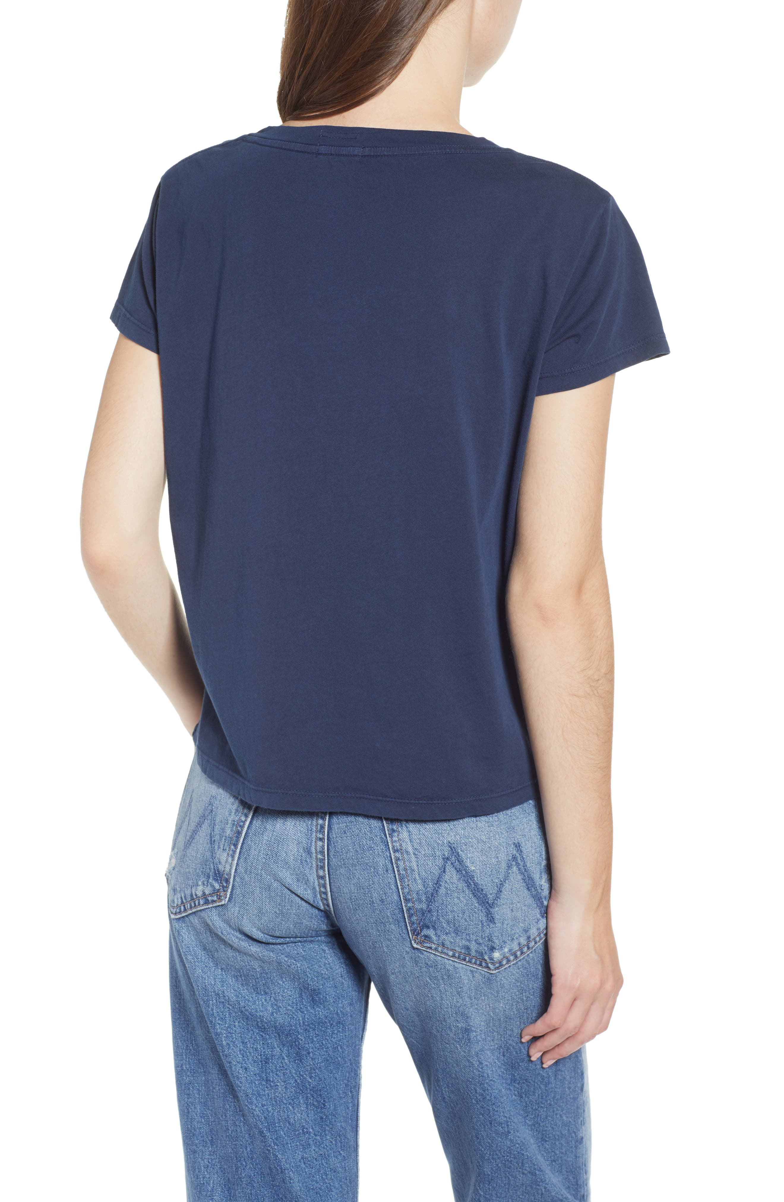 The Boxy Goodie Goodie Supima<sup>®</sup> Cotton Tee,                             Alternate thumbnail 2, color,                             NAVY