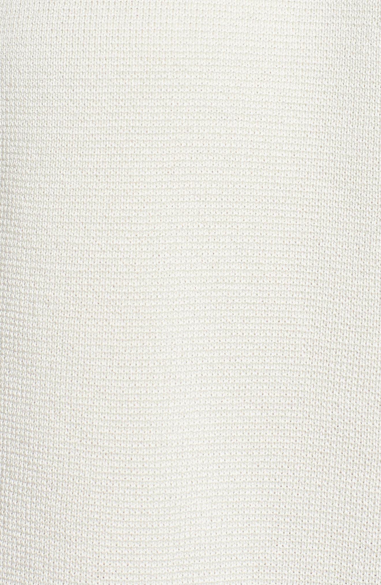 Stand Collar Silk & Organic Cotton Cardigan,                             Alternate thumbnail 11, color,