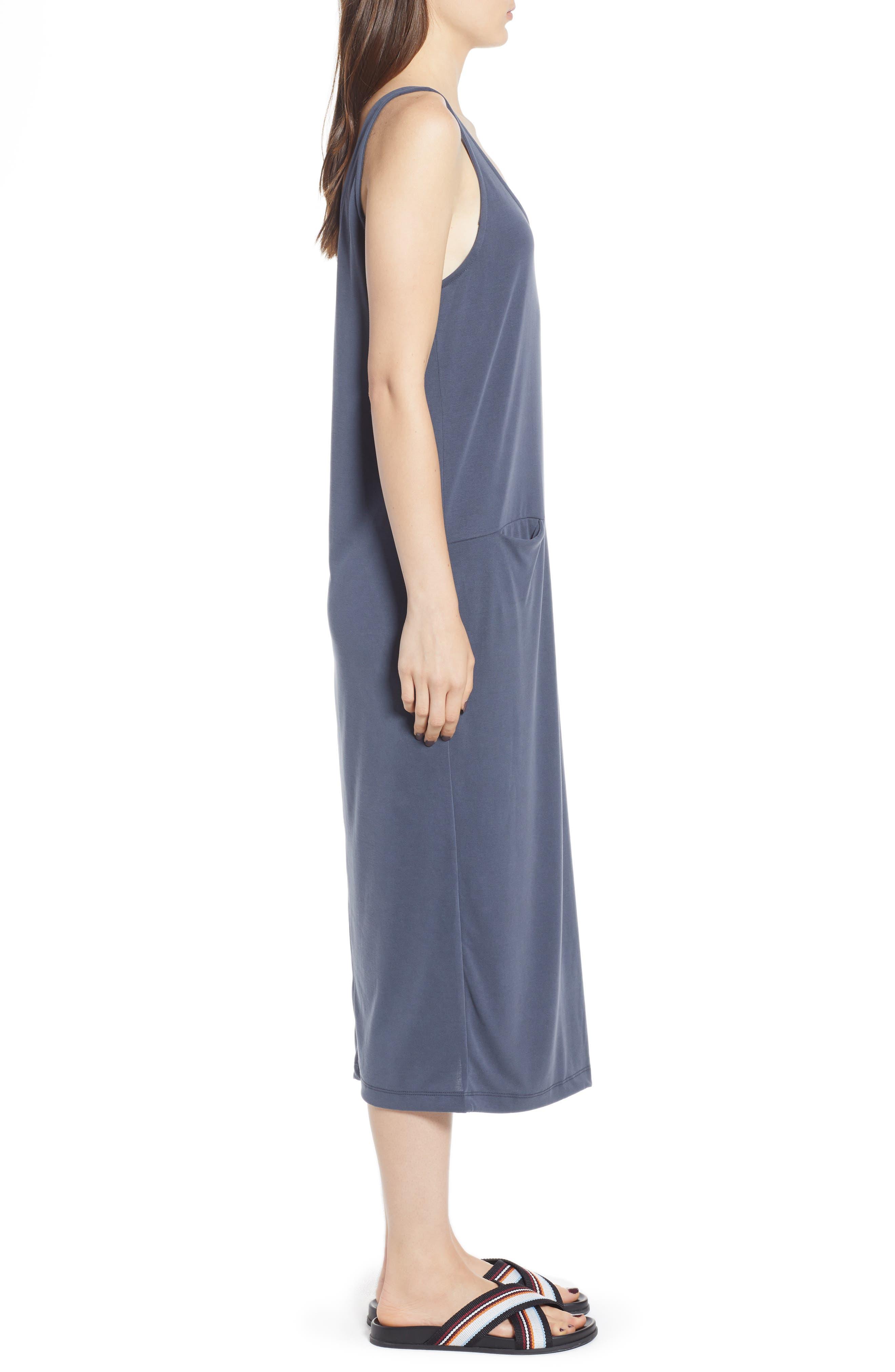 Tank Midi Dress,                             Alternate thumbnail 3, color,                             030
