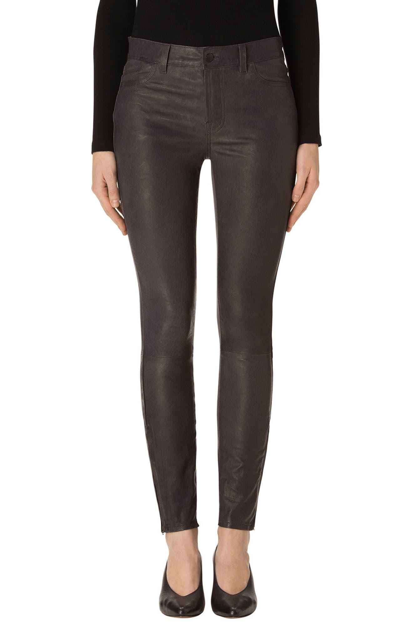 '8001' Lambskin Leather Pants,                             Main thumbnail 6, color,