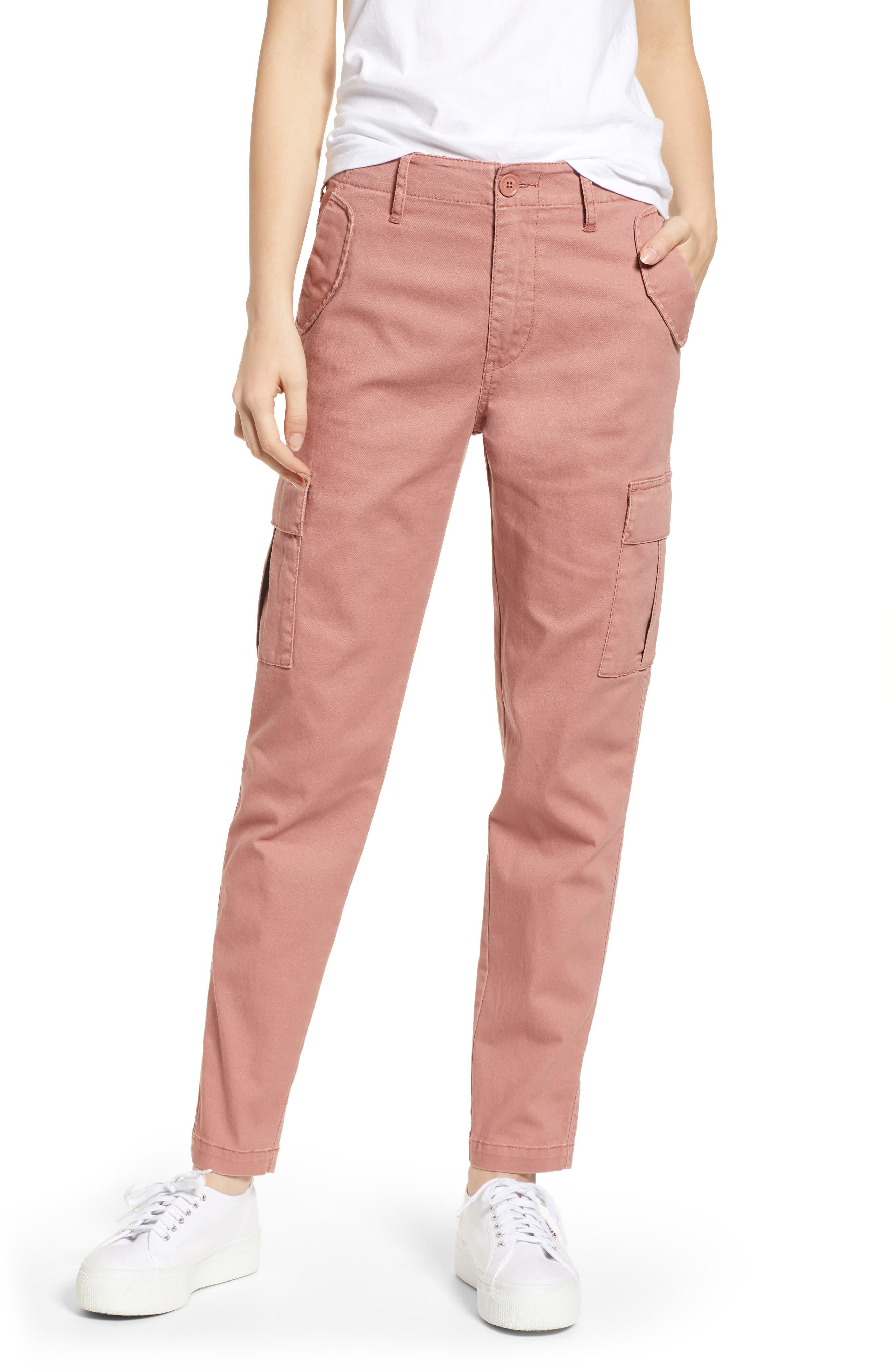 Union Bay Garner Military Cargo Pants, Pink