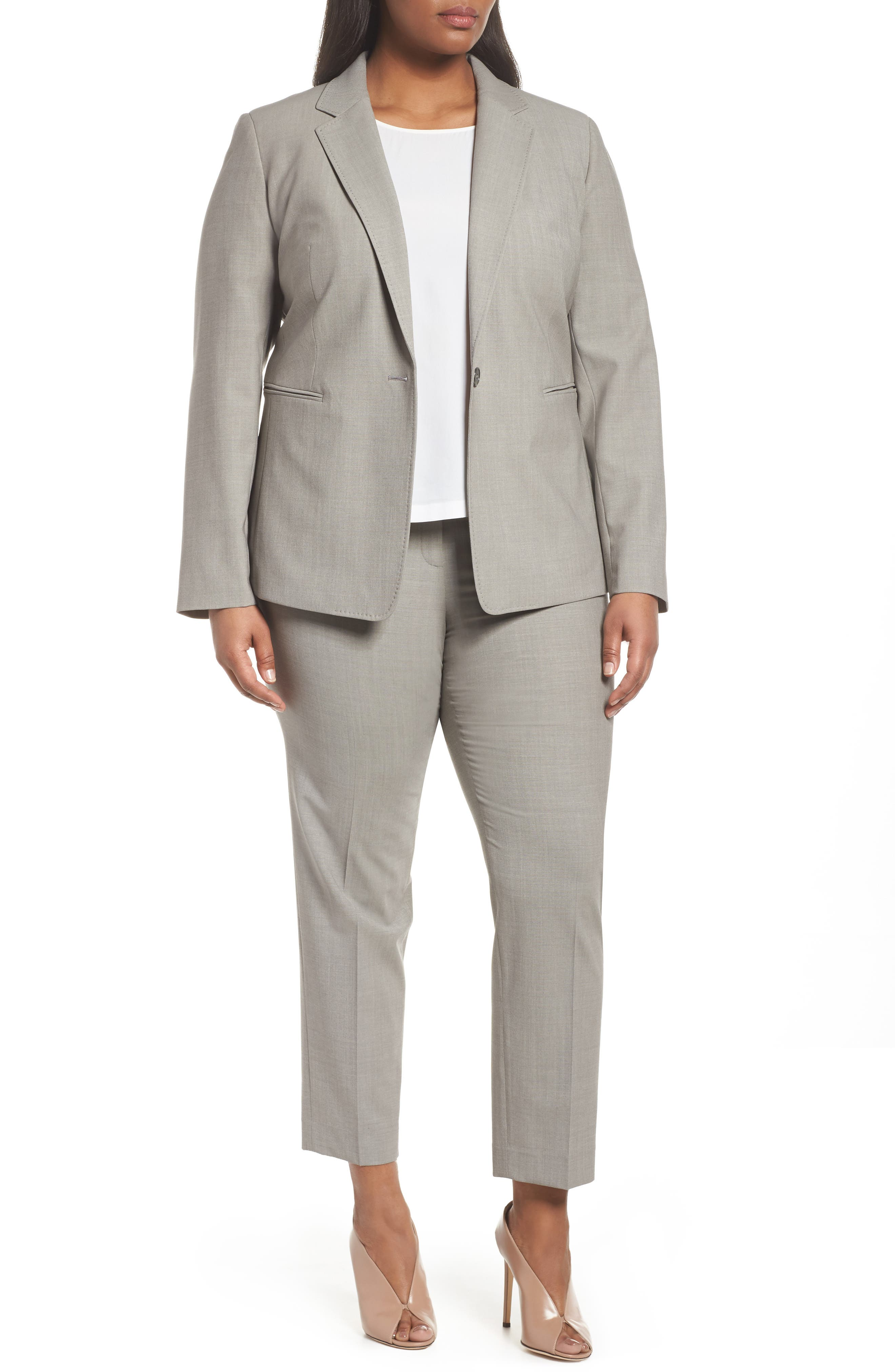 Bleecker Stretch Wool Suit Pants,                             Alternate thumbnail 7, color,                             021