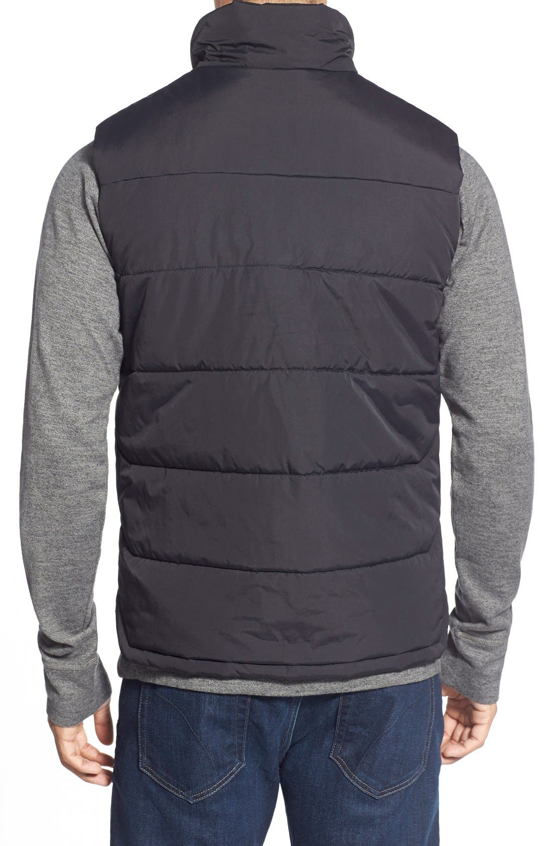 'Patrick's Point' Quilted Vest,                             Alternate thumbnail 3, color,                             001