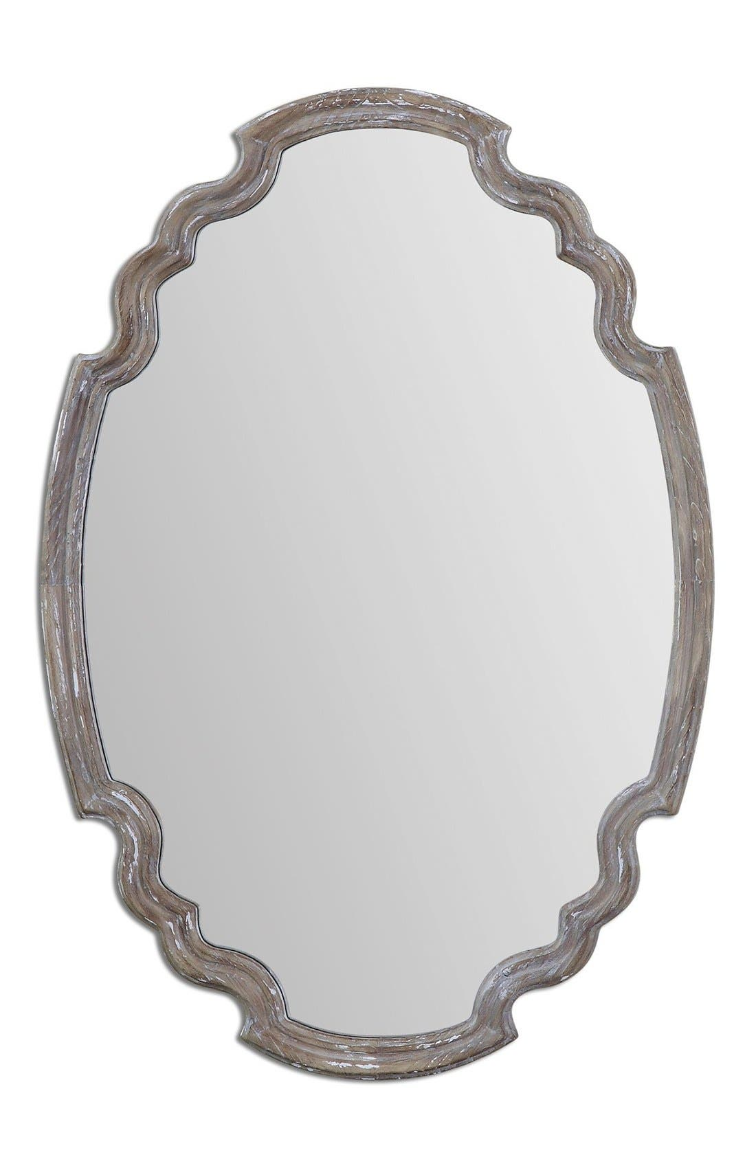 'Ludovica' Aged Finish Oval Wall Mirror,                             Main thumbnail 1, color,                             020