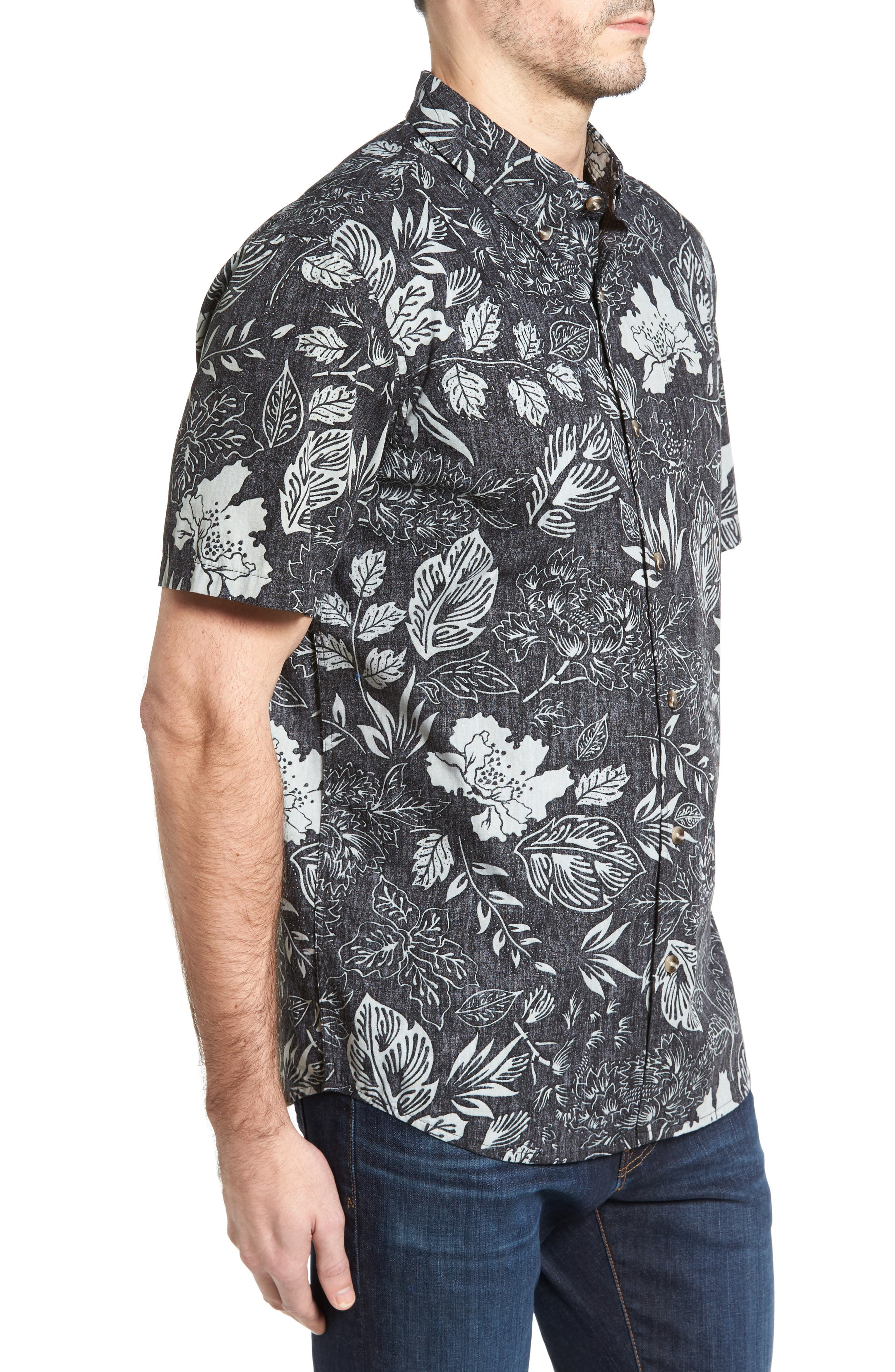 Samoa Print Sport Shirt,                             Alternate thumbnail 5, color,