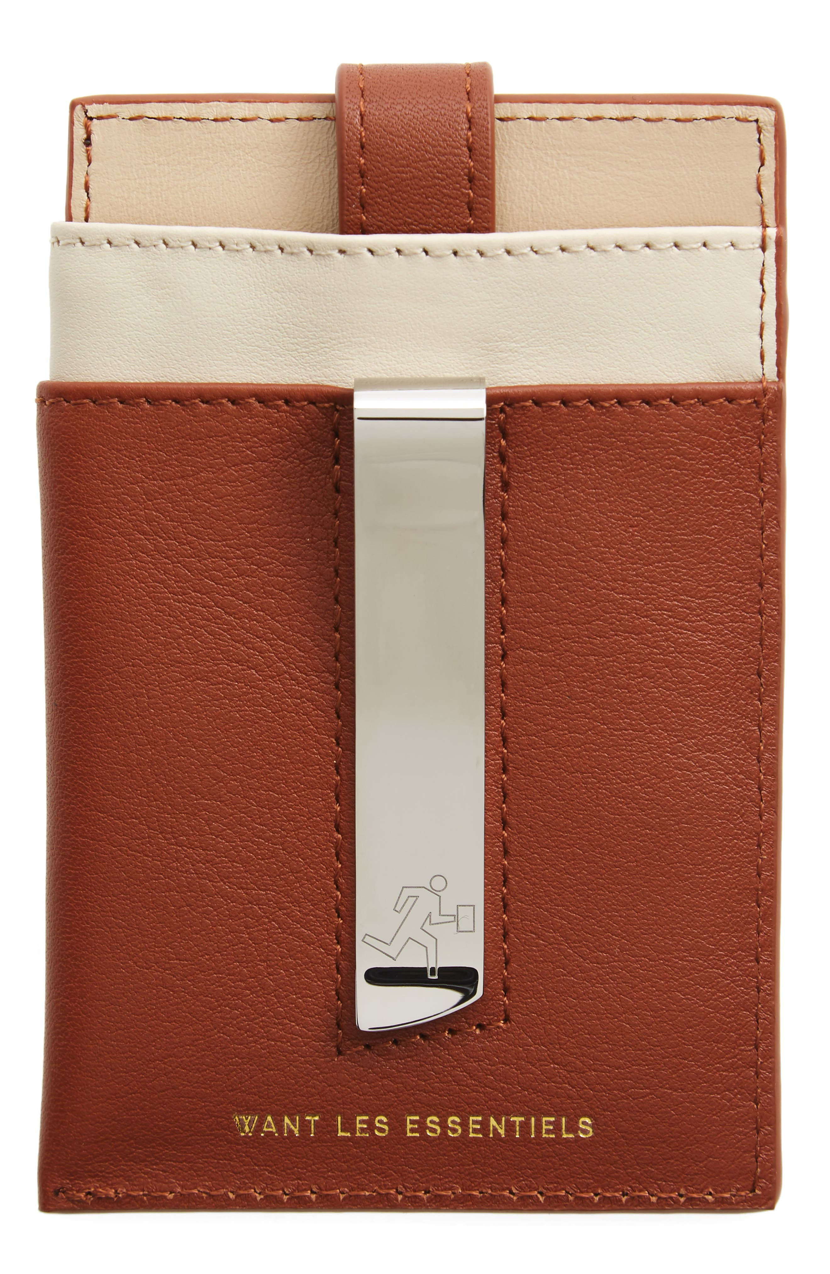 'Kennedy' Leather Money Clip Card Case,                             Main thumbnail 1, color,