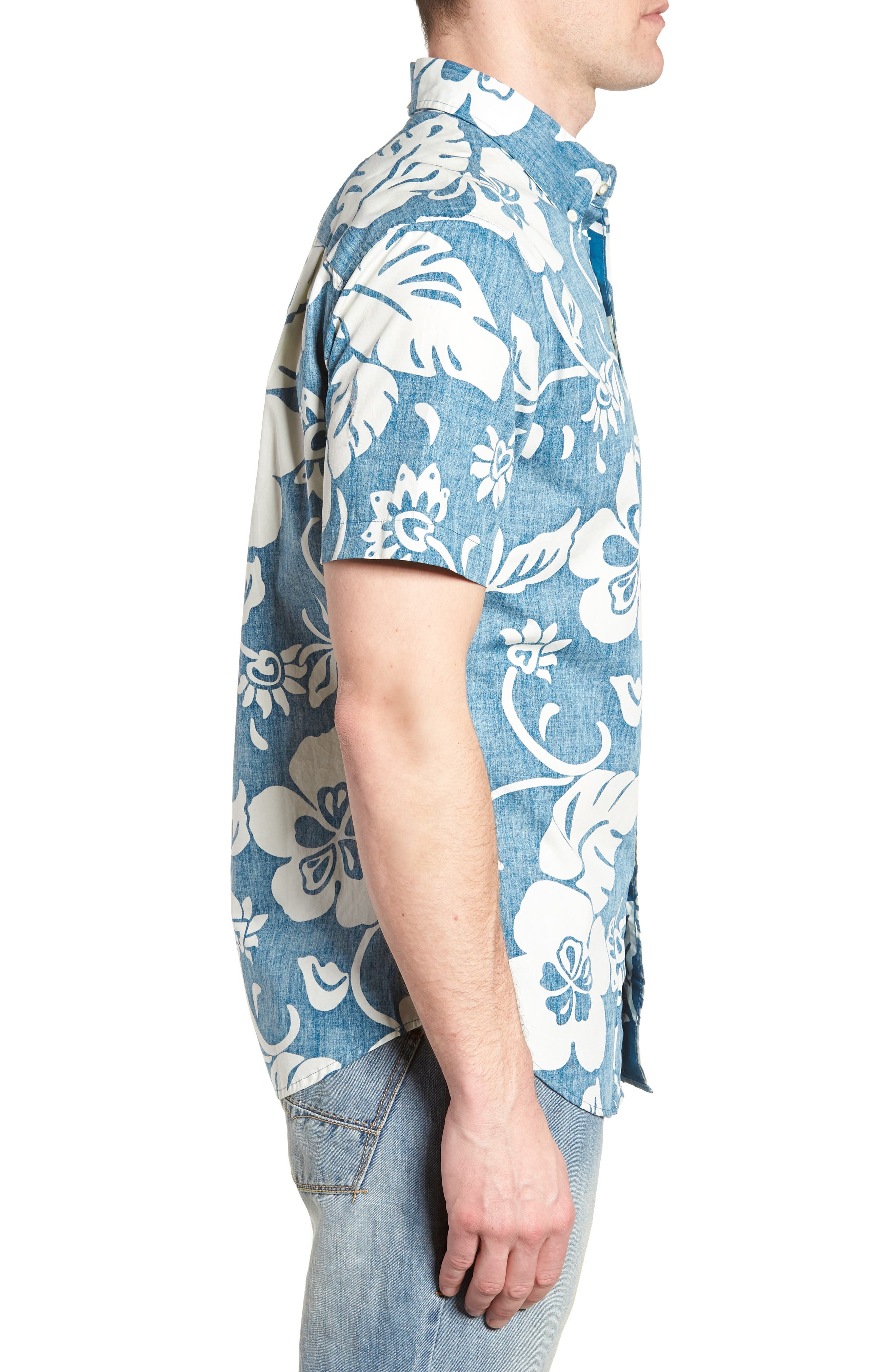 Papeetee Pareau Tailored Fit Sport Shirt,                             Alternate thumbnail 3, color,