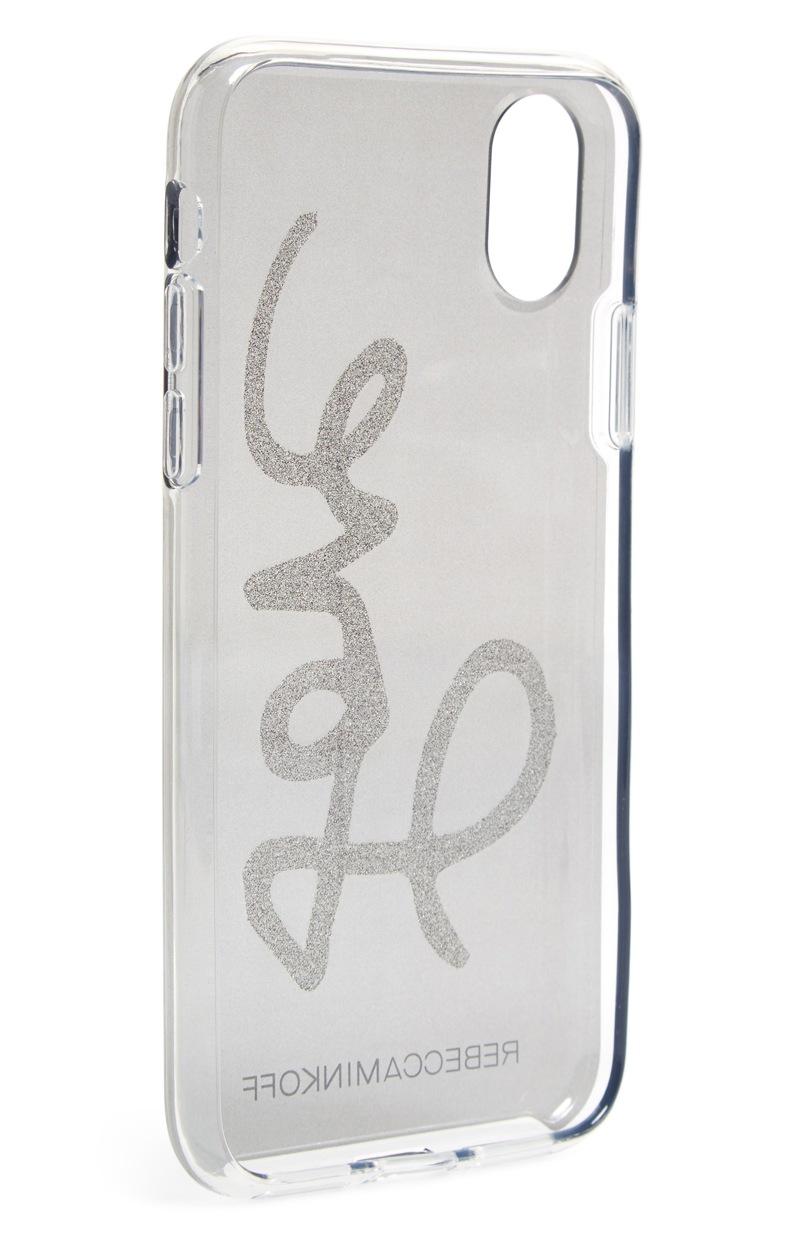 Double Up iPhone X Case,                             Alternate thumbnail 3, color,