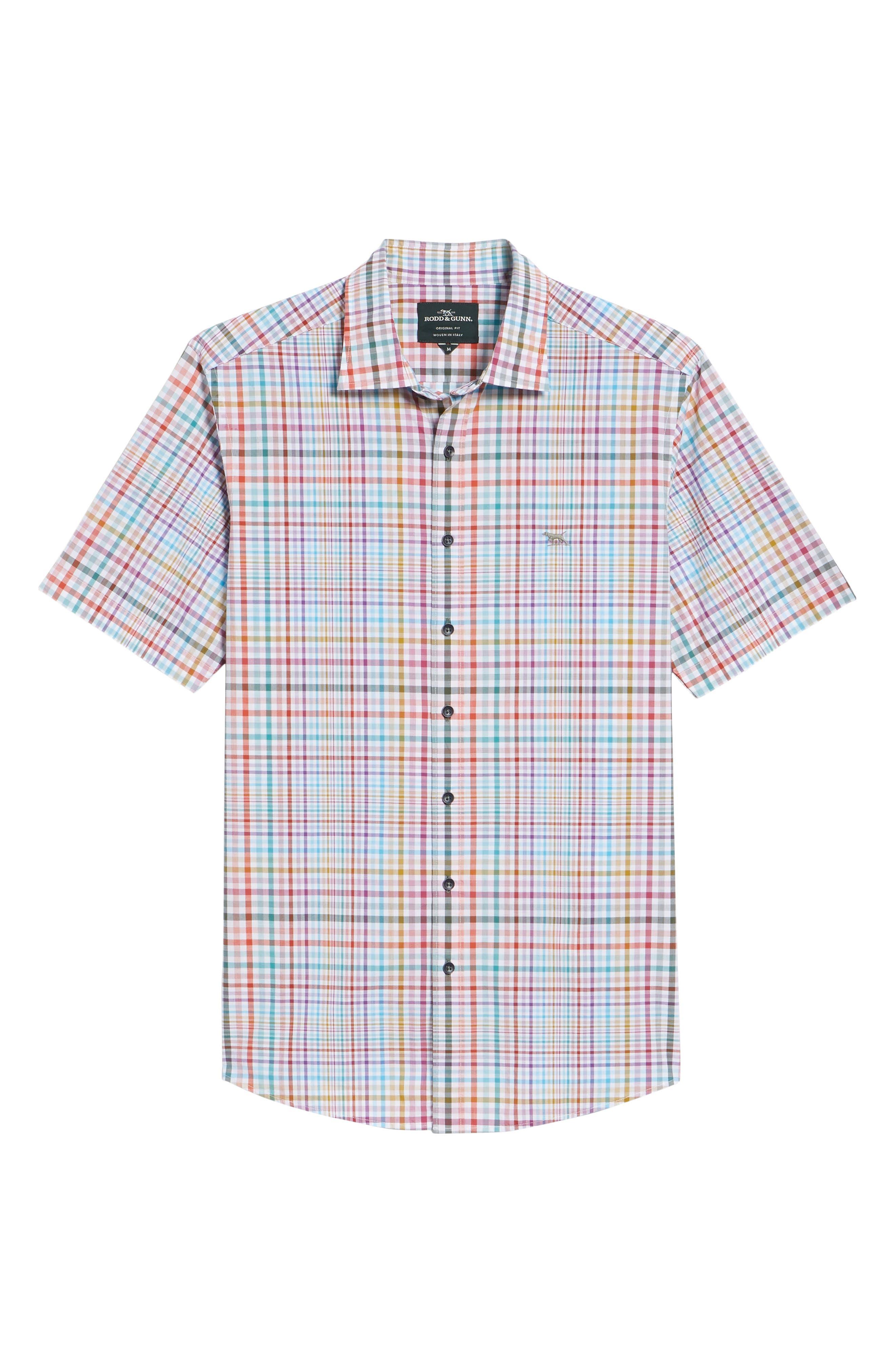 Edgewater Regular Fit Sport Shirt,                             Alternate thumbnail 6, color,                             CORAL REEF