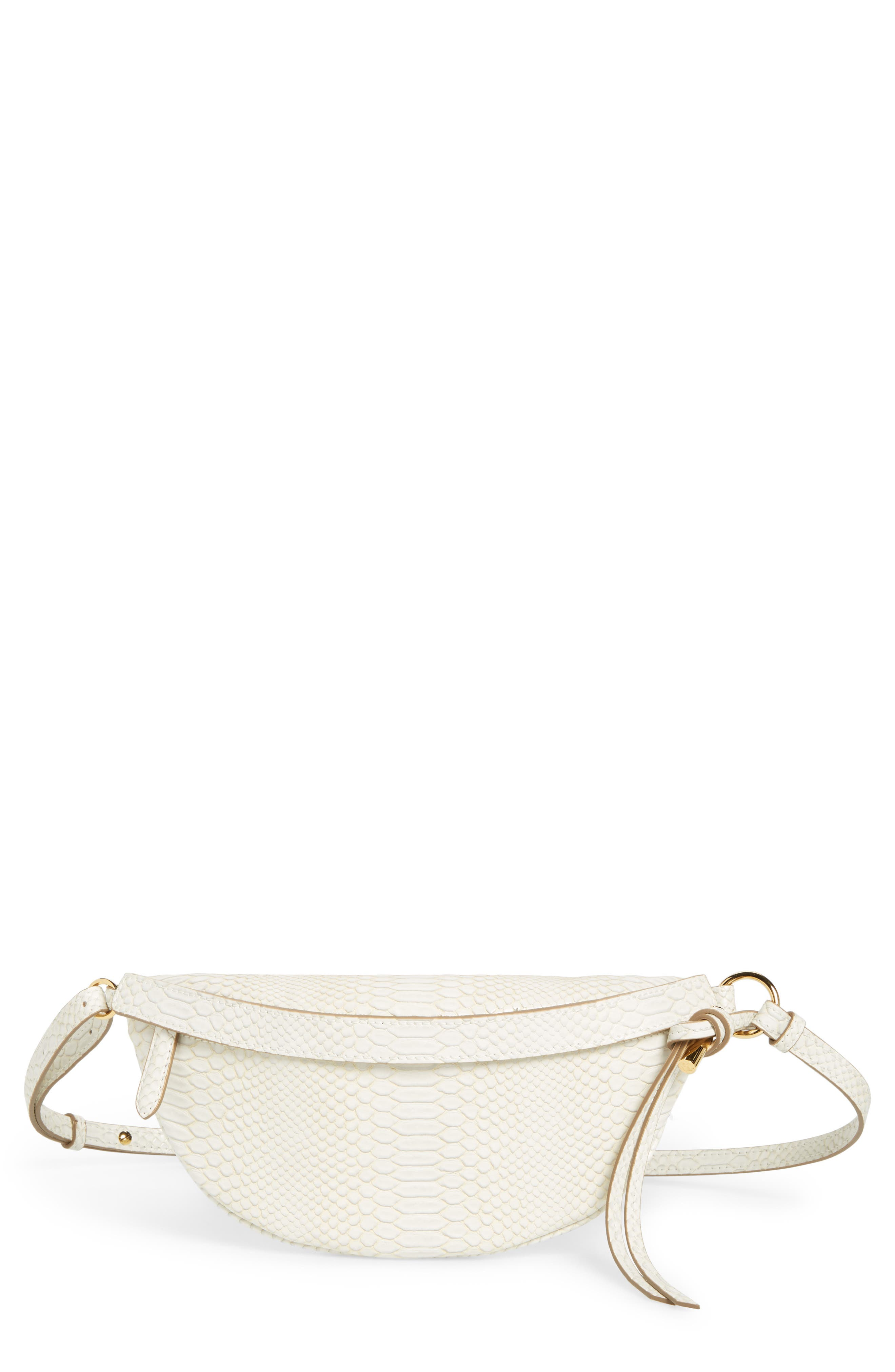 Alter Snake Faux Leather Fanny Pack,                         Main,                         color, IVORY