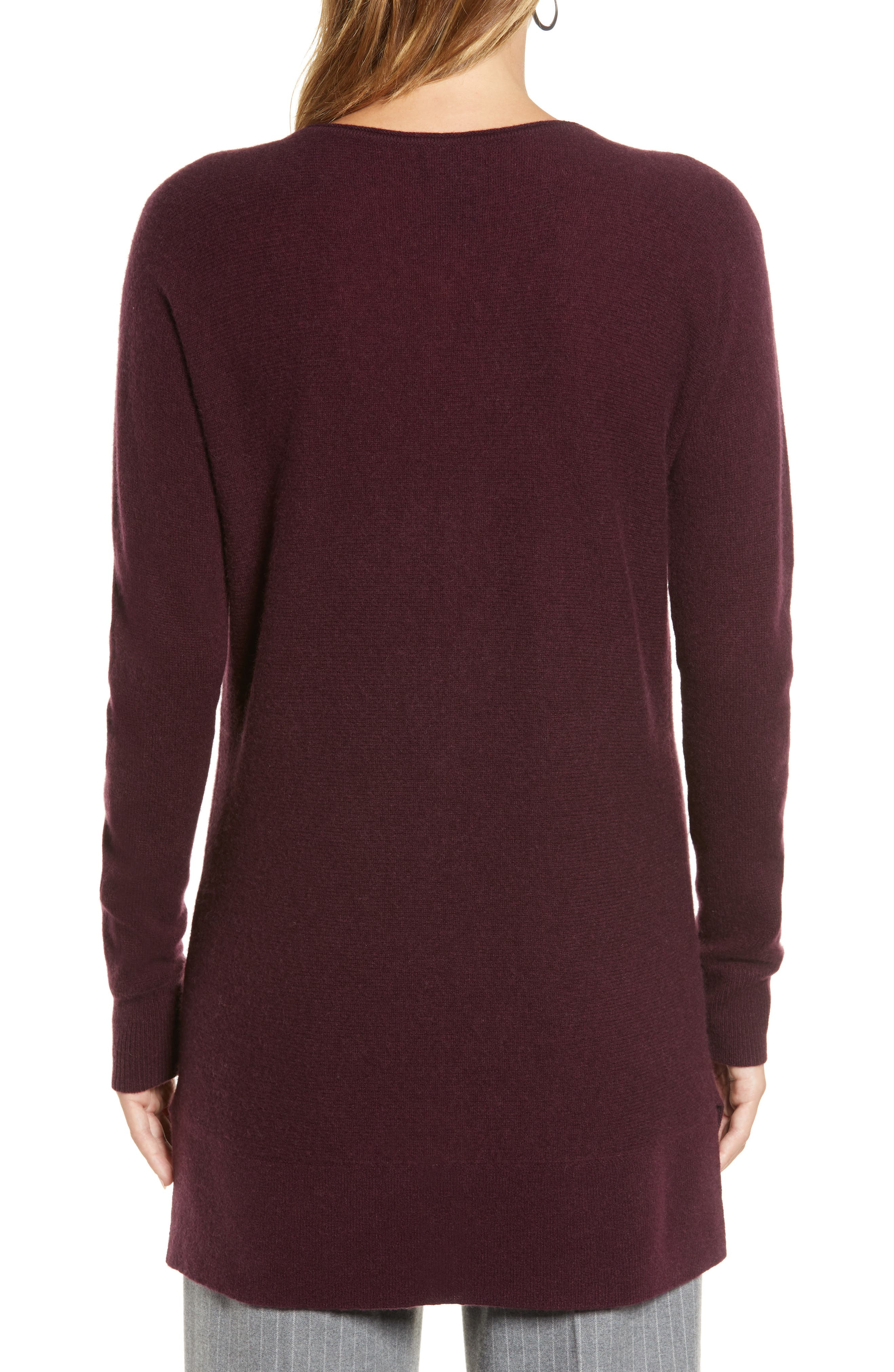 High/Low Wool & Cashmere Tunic Sweater,                             Alternate thumbnail 53, color,