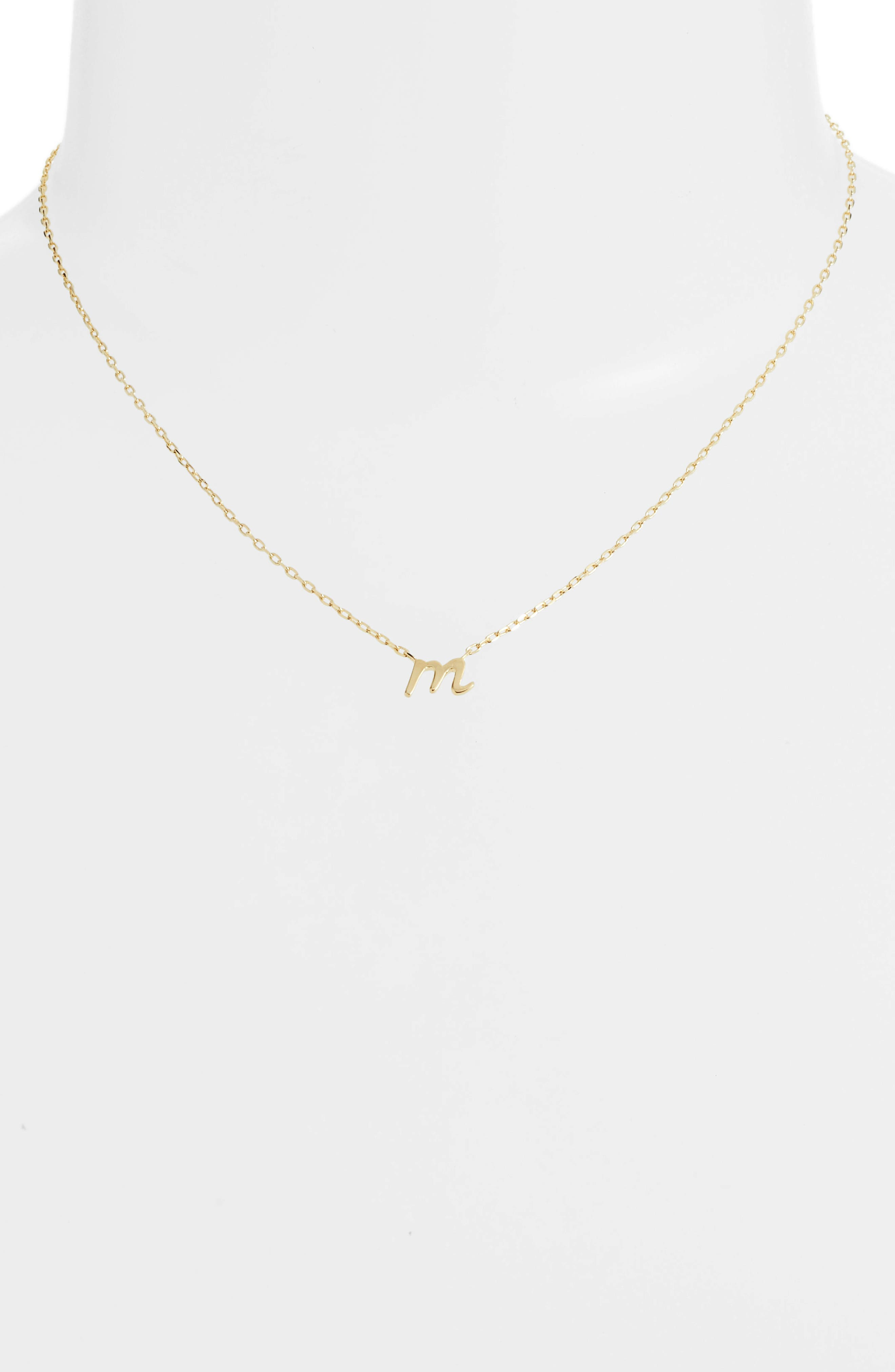 kate spade one in a million initial pendant necklace,                             Alternate thumbnail 2, color,                             M-GOLD