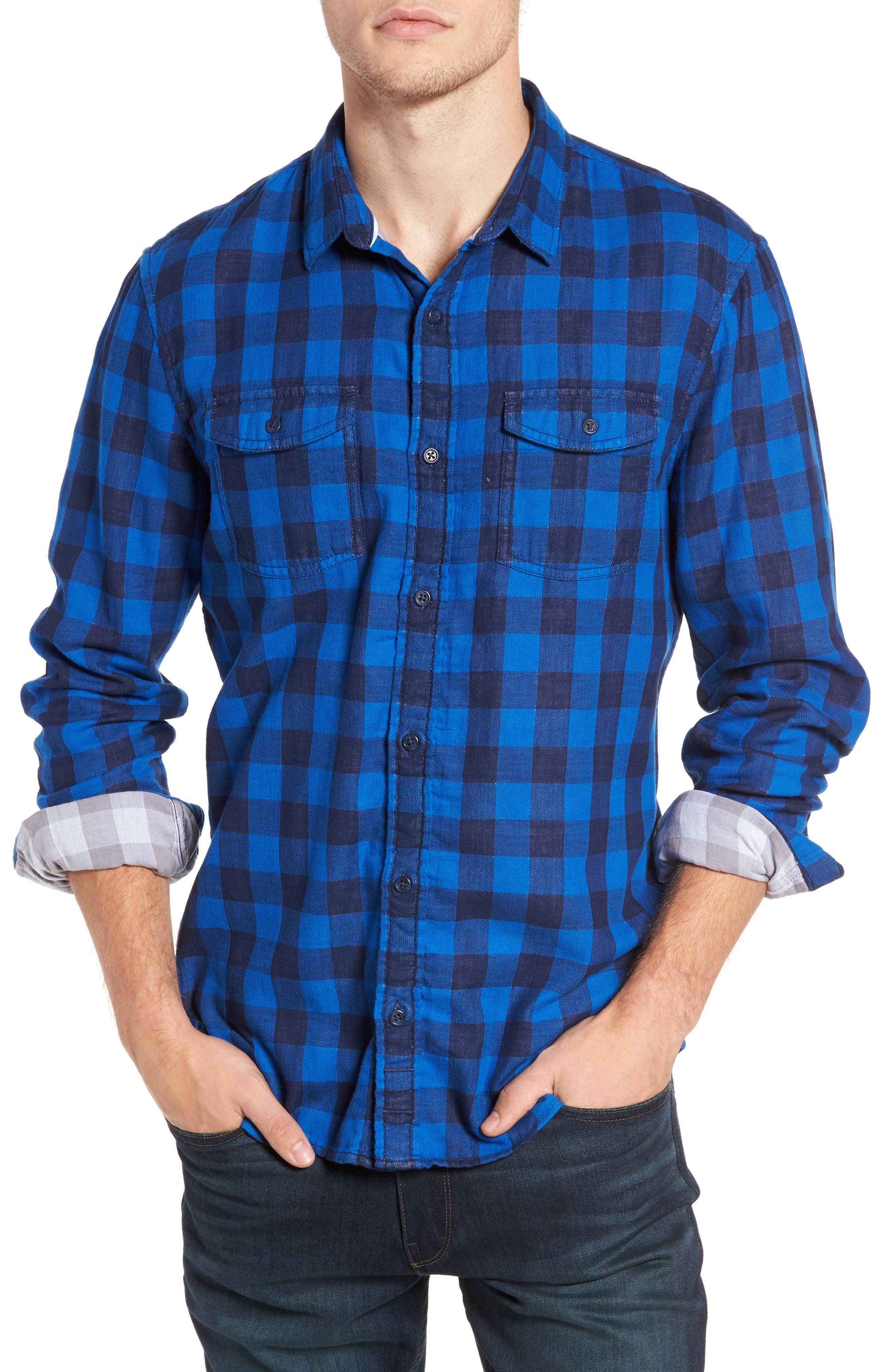 Duofold Check Sport Shirt,                             Main thumbnail 1, color,                             420