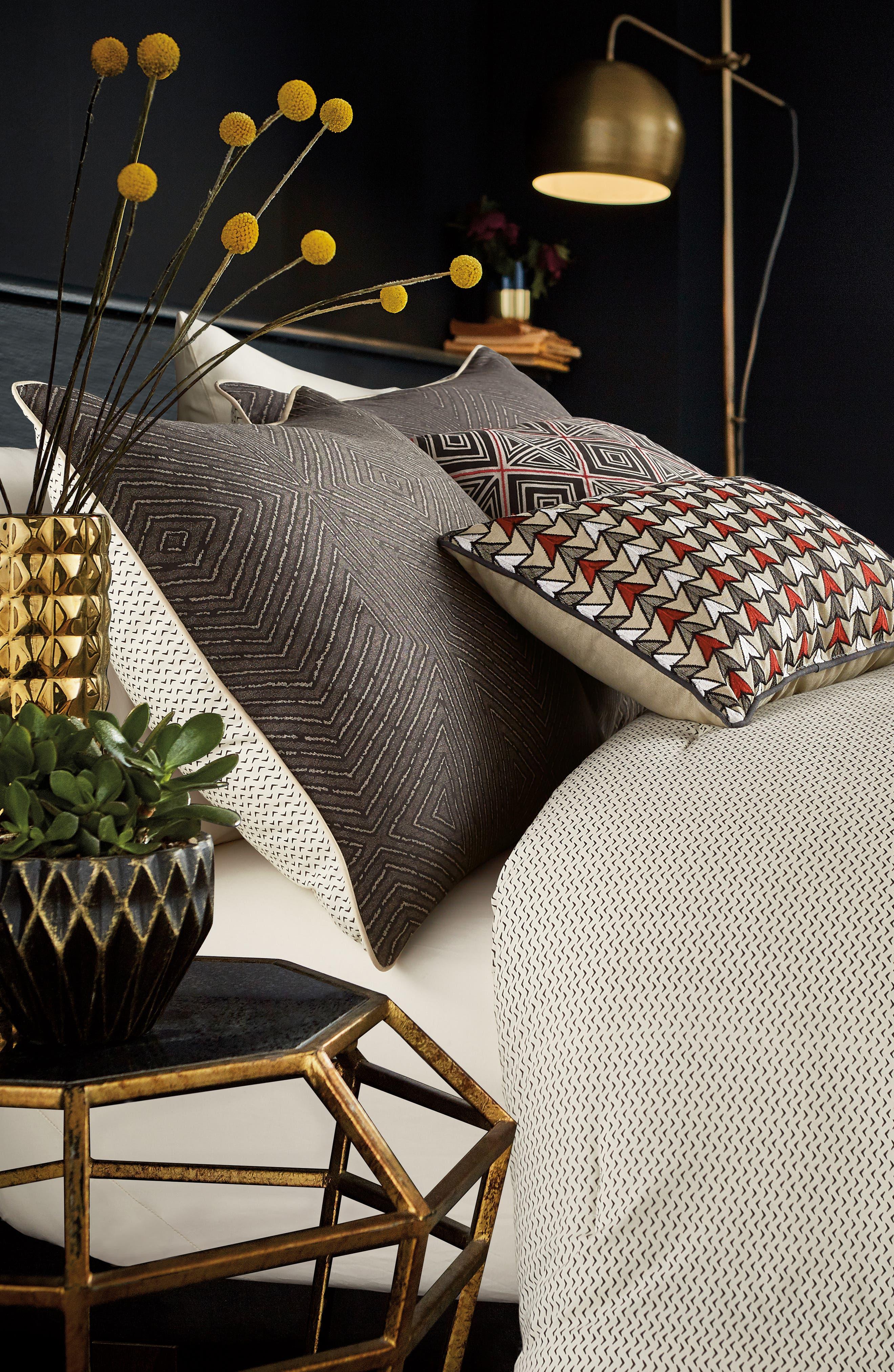 BEDECK,                             Arro Comforter, Sham & Accent Pillow Set,                             Alternate thumbnail 3, color,                             CHARCOAL
