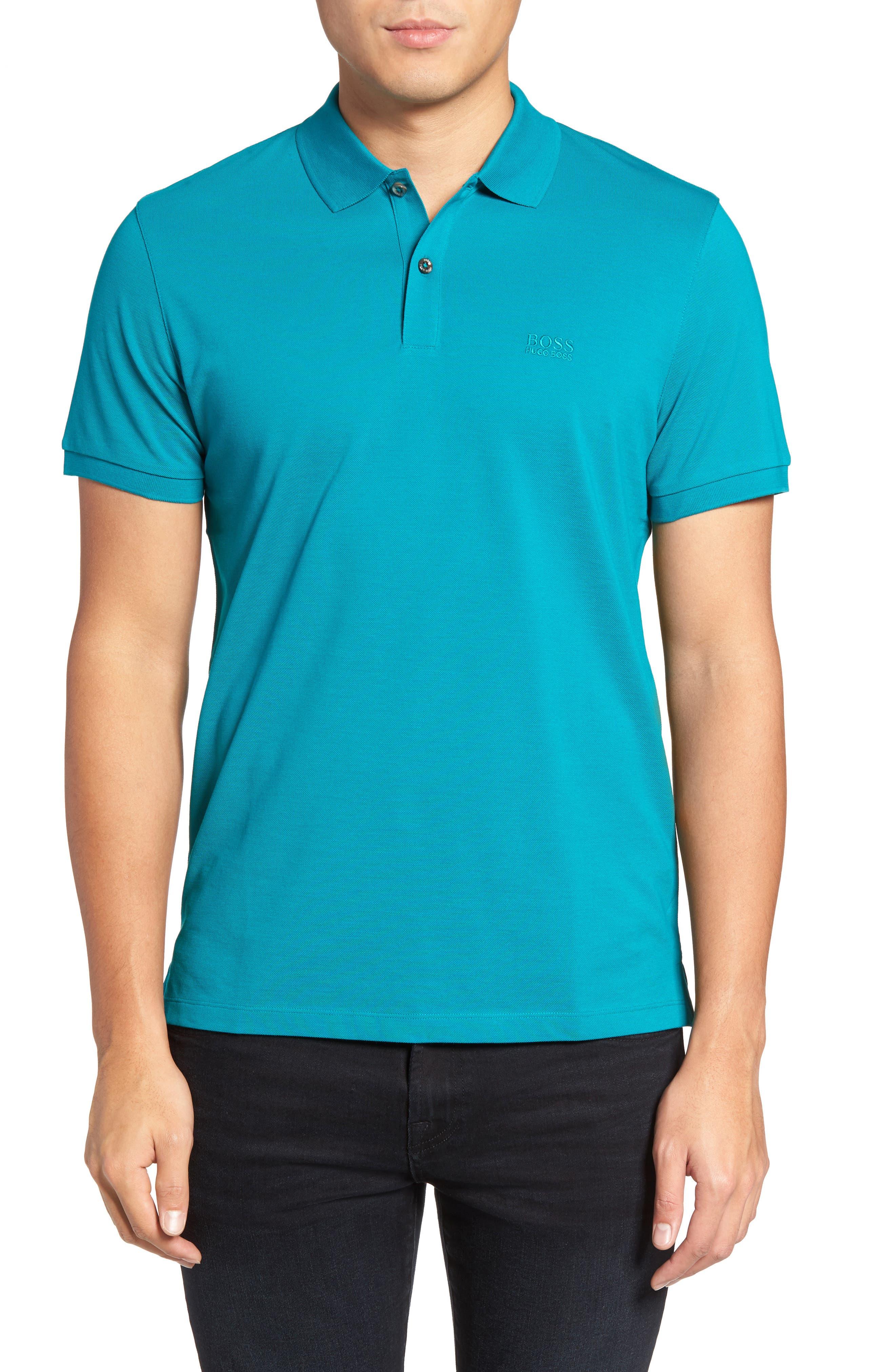 'Pallas' Regular Fit Logo Embroidered Polo Shirt,                             Main thumbnail 7, color,