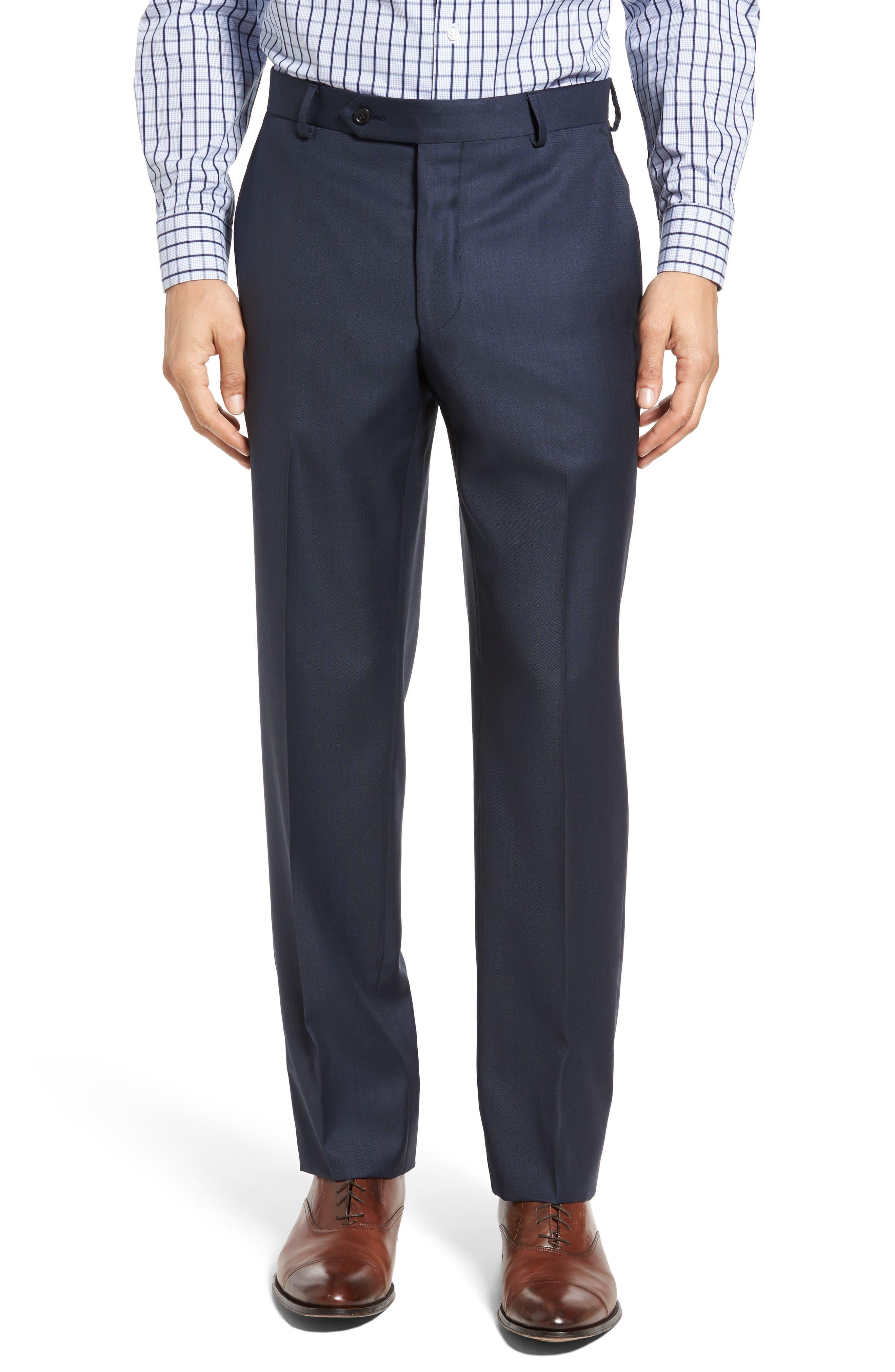 Classic Fit Sharkskin Wool Suit,                             Alternate thumbnail 6, color,                             410