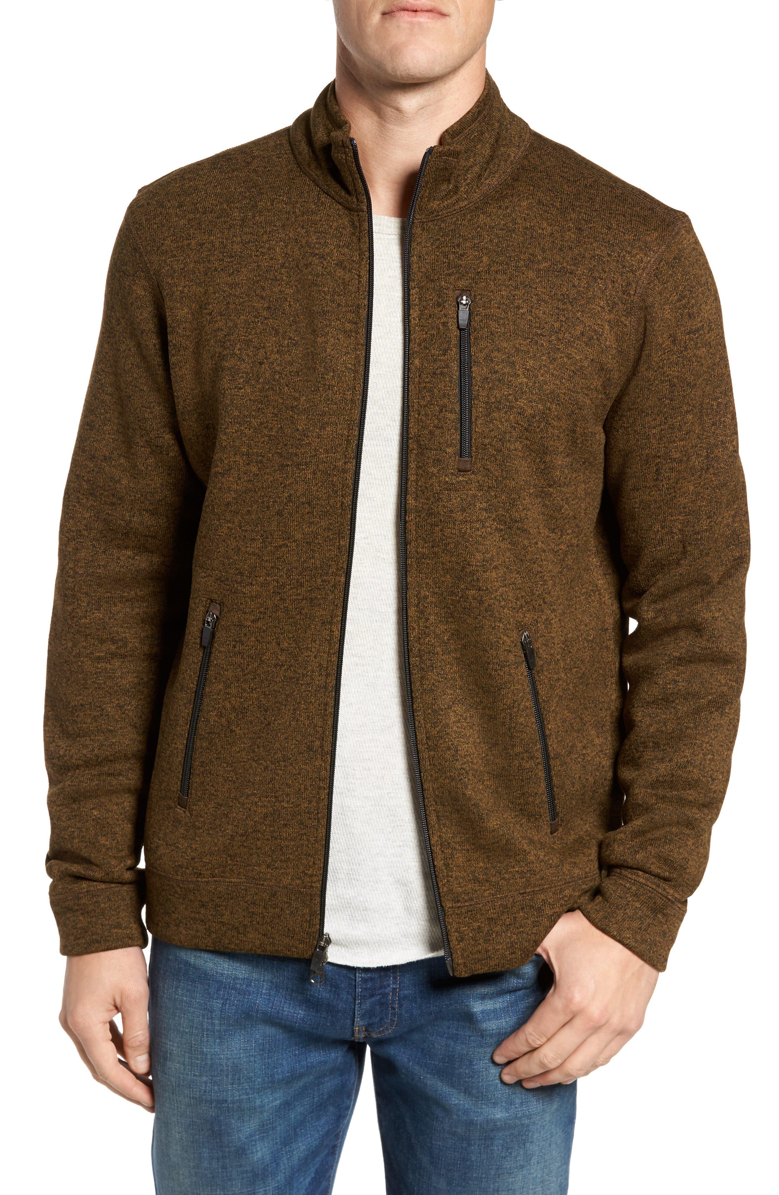 Sweater Knit Fleece Zip Front Jacket,                             Main thumbnail 2, color,