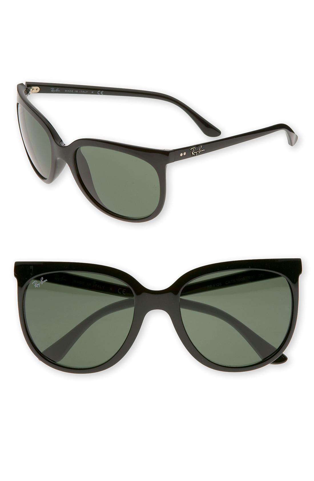 Retro Cat Eye Sunglasses,                             Main thumbnail 1, color,                             001