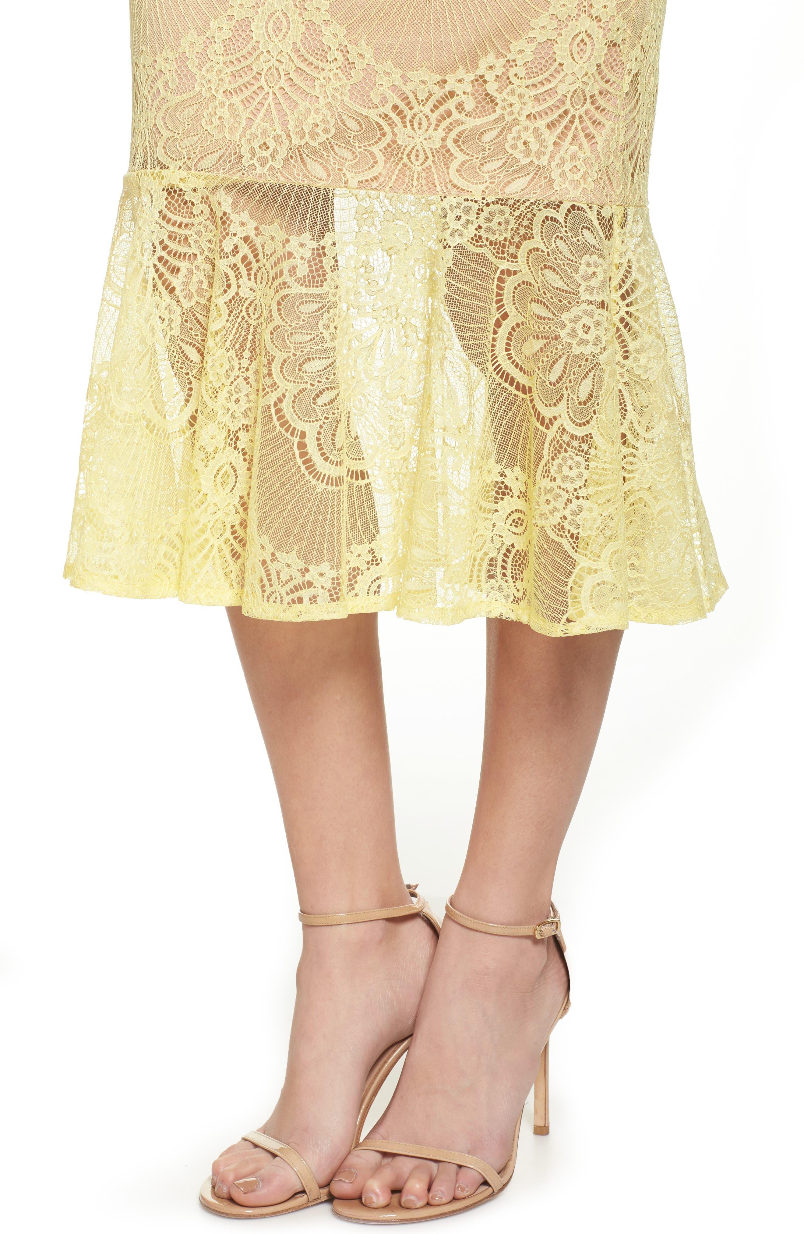 Toril Off the Shoulder Lace Midi Dress,                             Alternate thumbnail 4, color,                             742