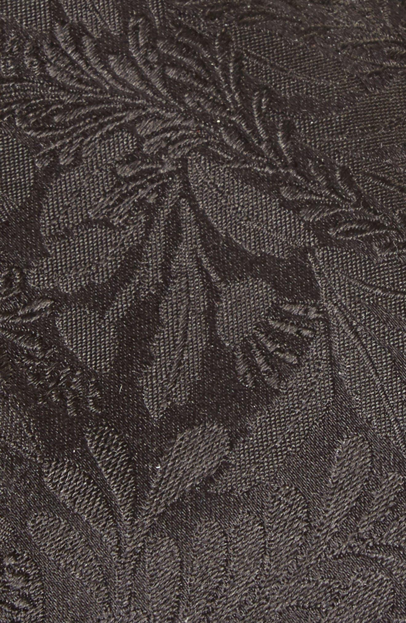 Tonal Floral Silk Tie,                             Alternate thumbnail 2, color,                             001