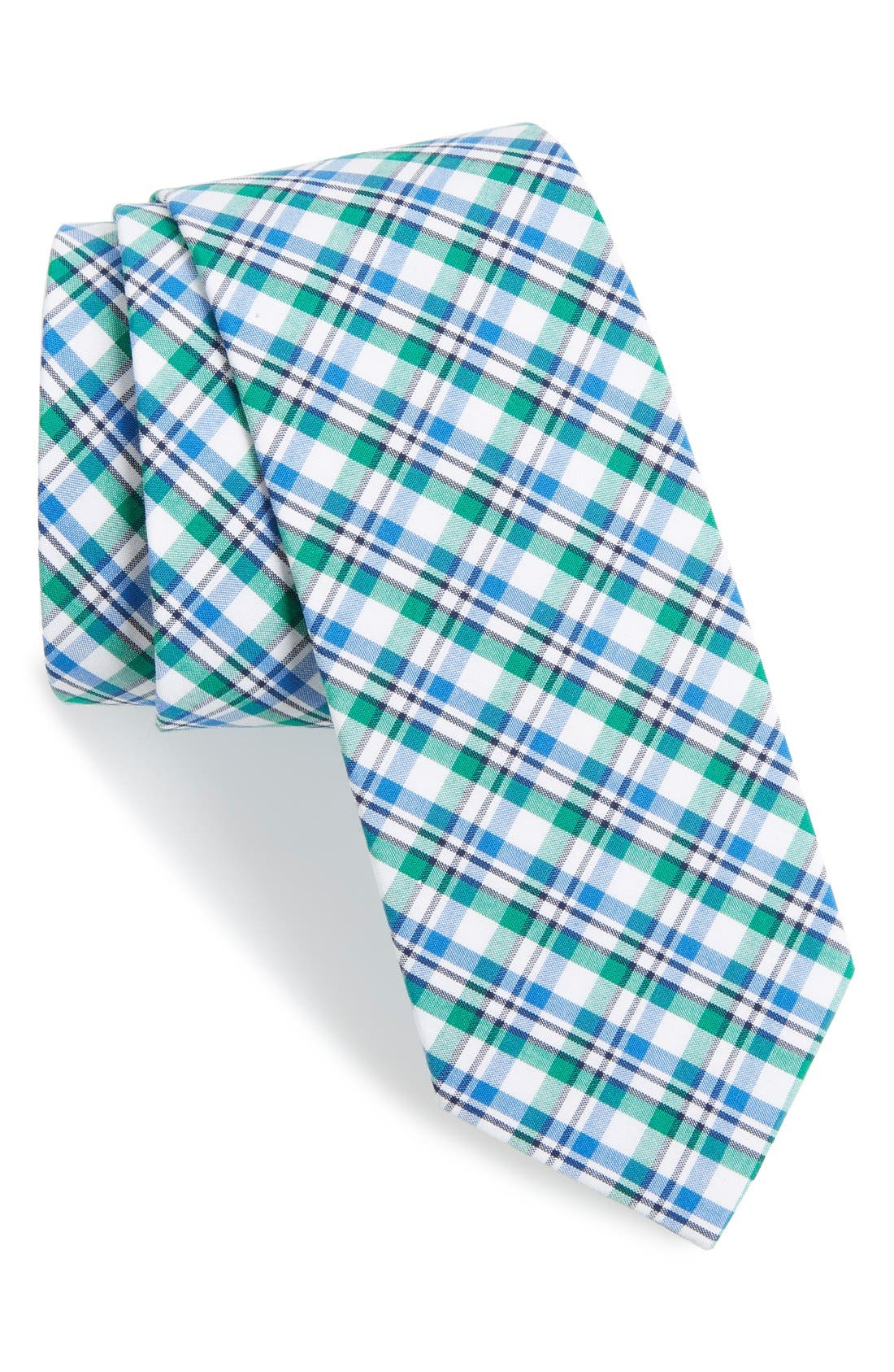 'Boomer' Plaid Cotton Tie,                             Main thumbnail 1, color,