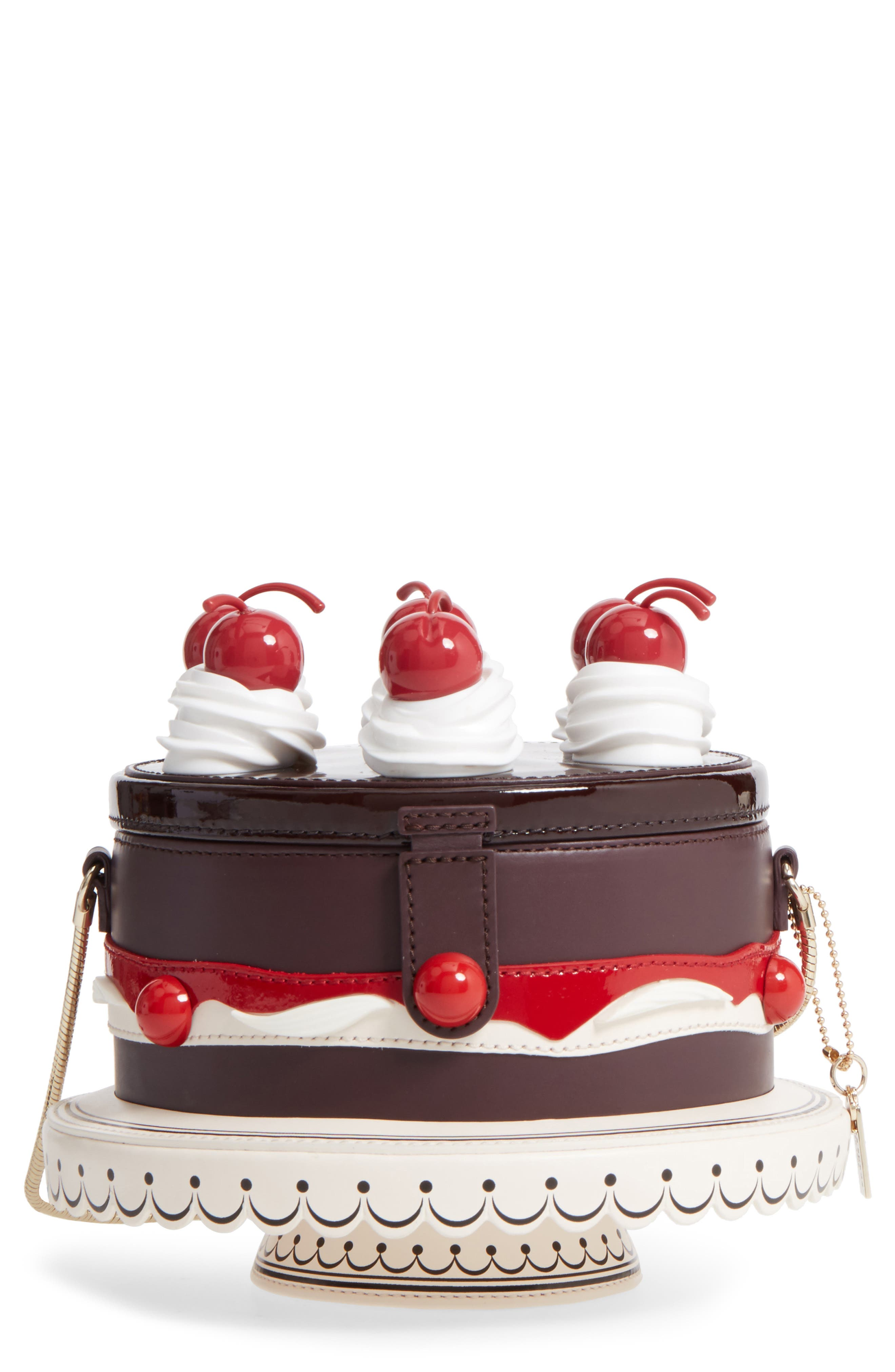 ma cherie - cherry cake leather shoulder bag,                         Main,                         color, 200