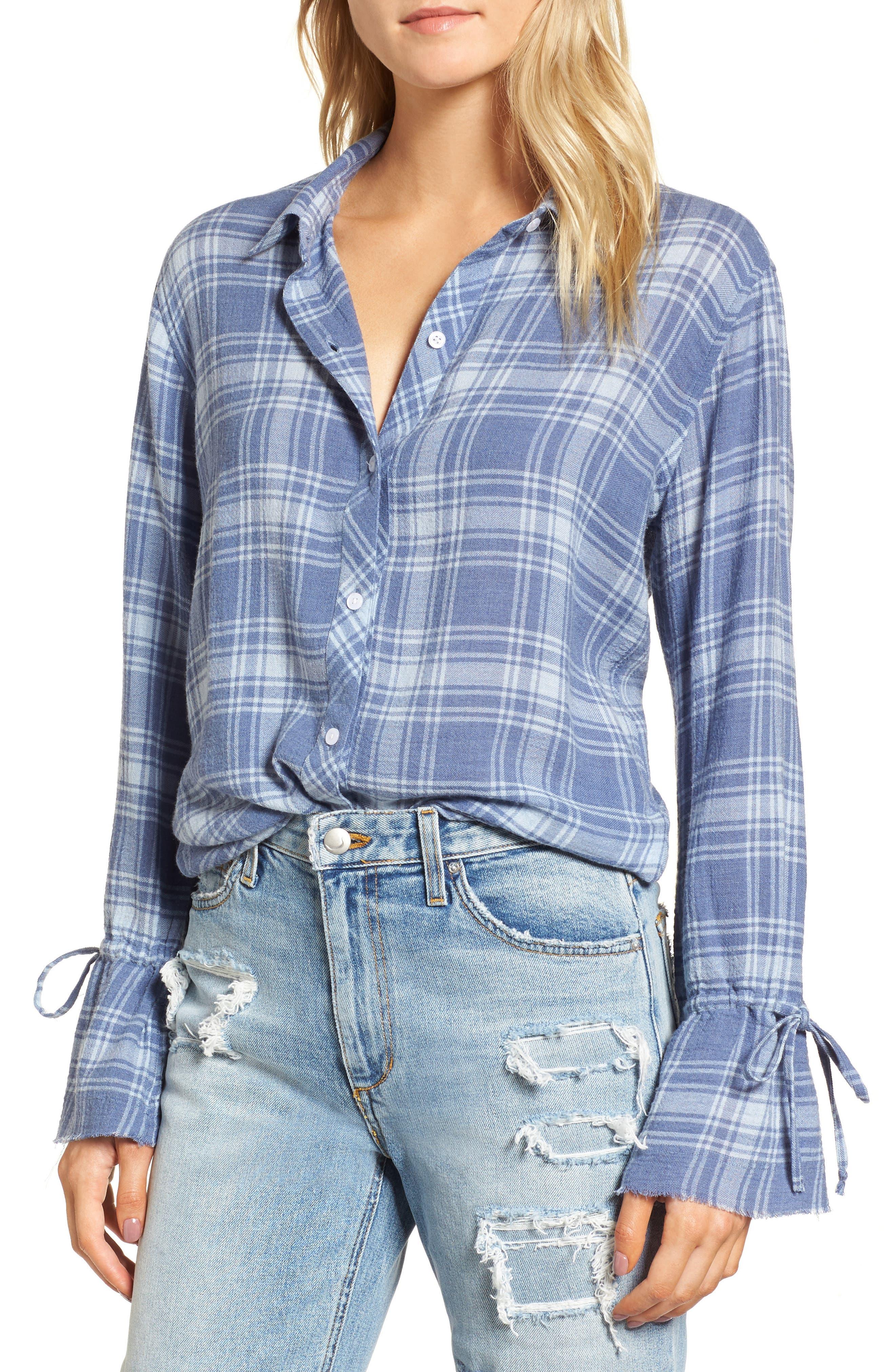 Astrid Tie Cuff Shirt,                             Main thumbnail 1, color,                             464