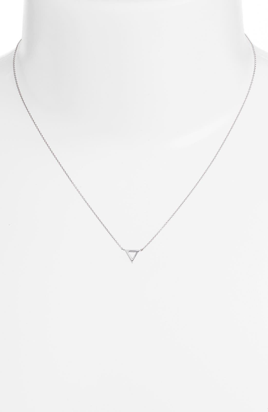 Triangle Pendant Necklace,                             Alternate thumbnail 6, color,                             710