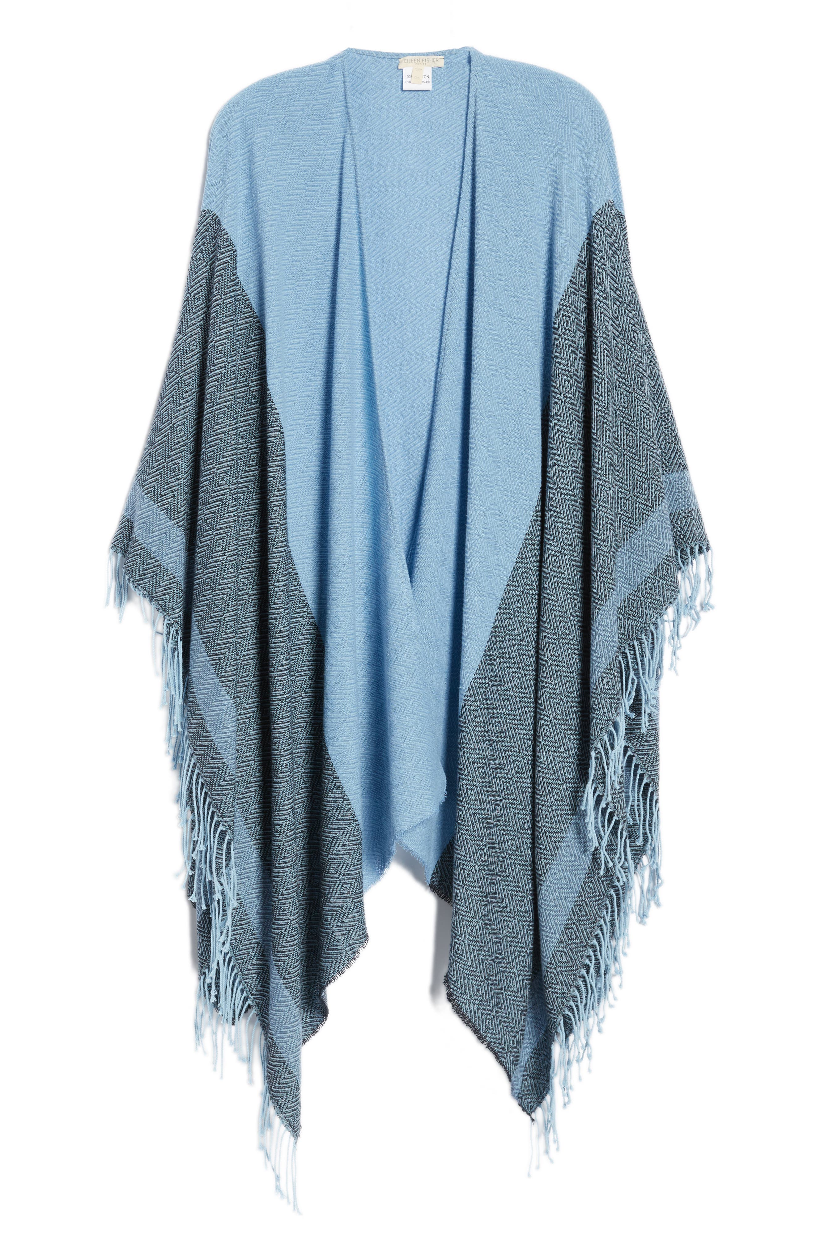 Recycled Cotton Poncho Wrap,                             Alternate thumbnail 6, color,