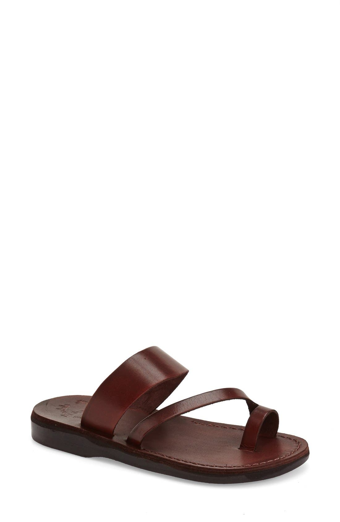 'Zohar' Leather Sandal,                             Main thumbnail 5, color,