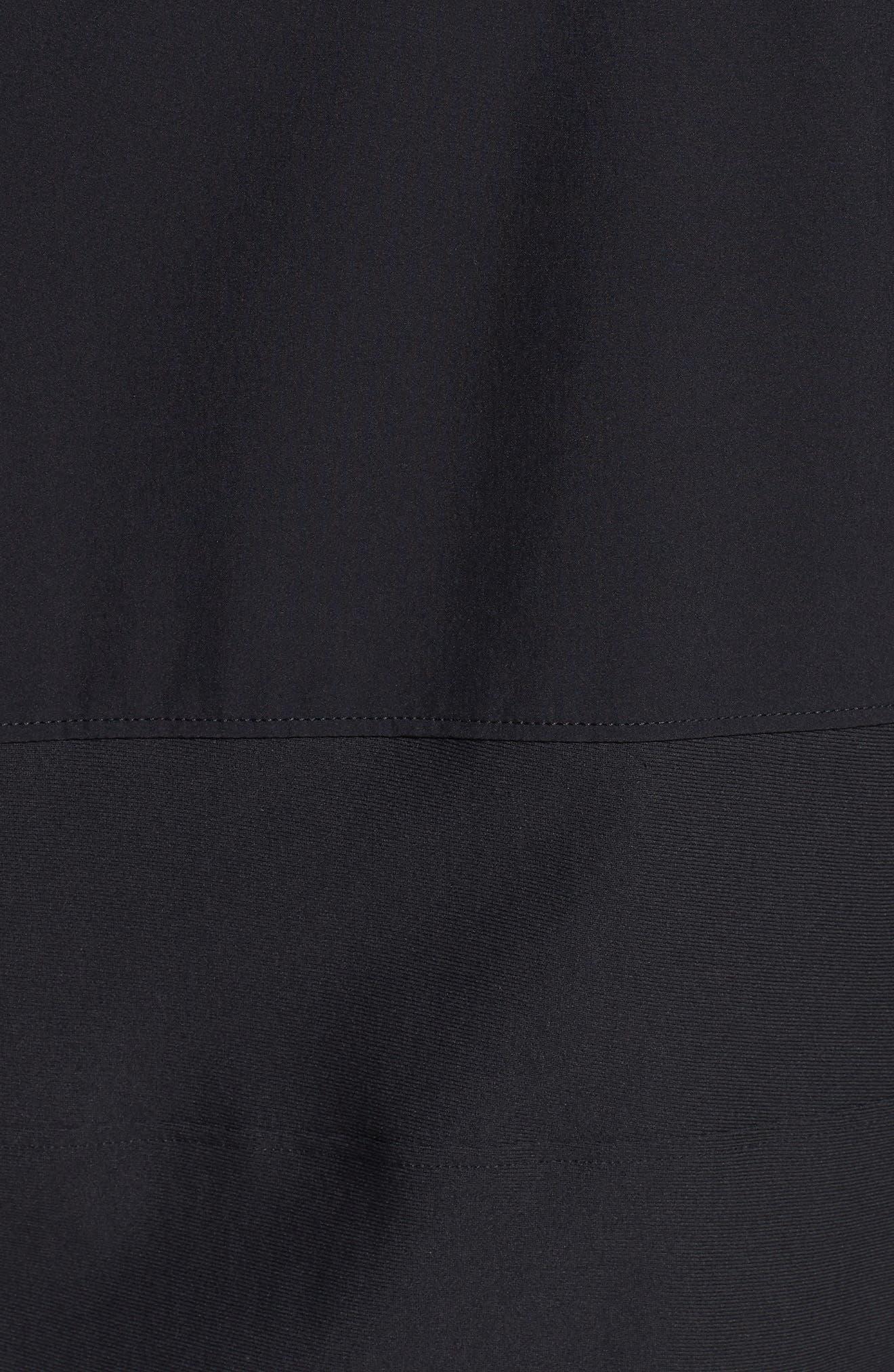 Threadborne Vanish Zip Hoodie,                             Alternate thumbnail 7, color,                             BLACK