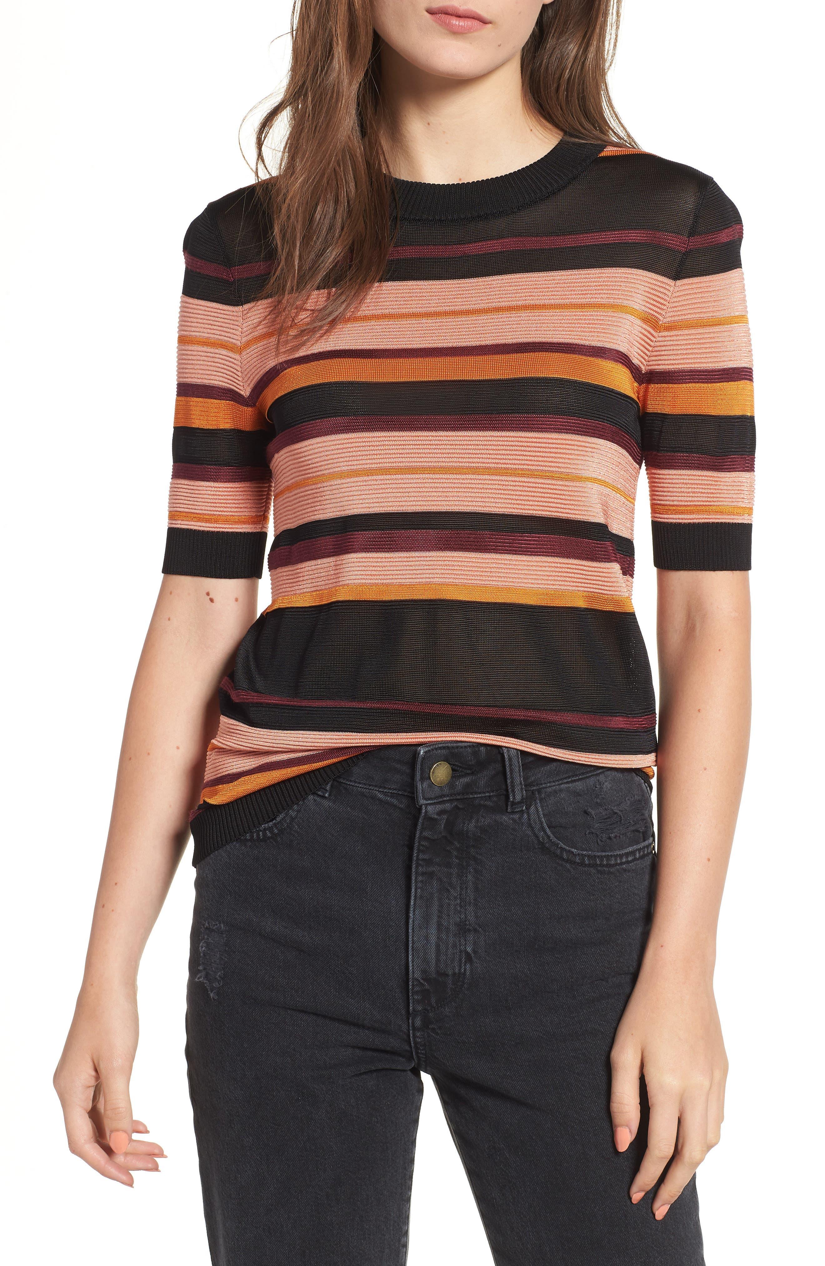 Stripe Knit Top,                             Main thumbnail 1, color,                             931