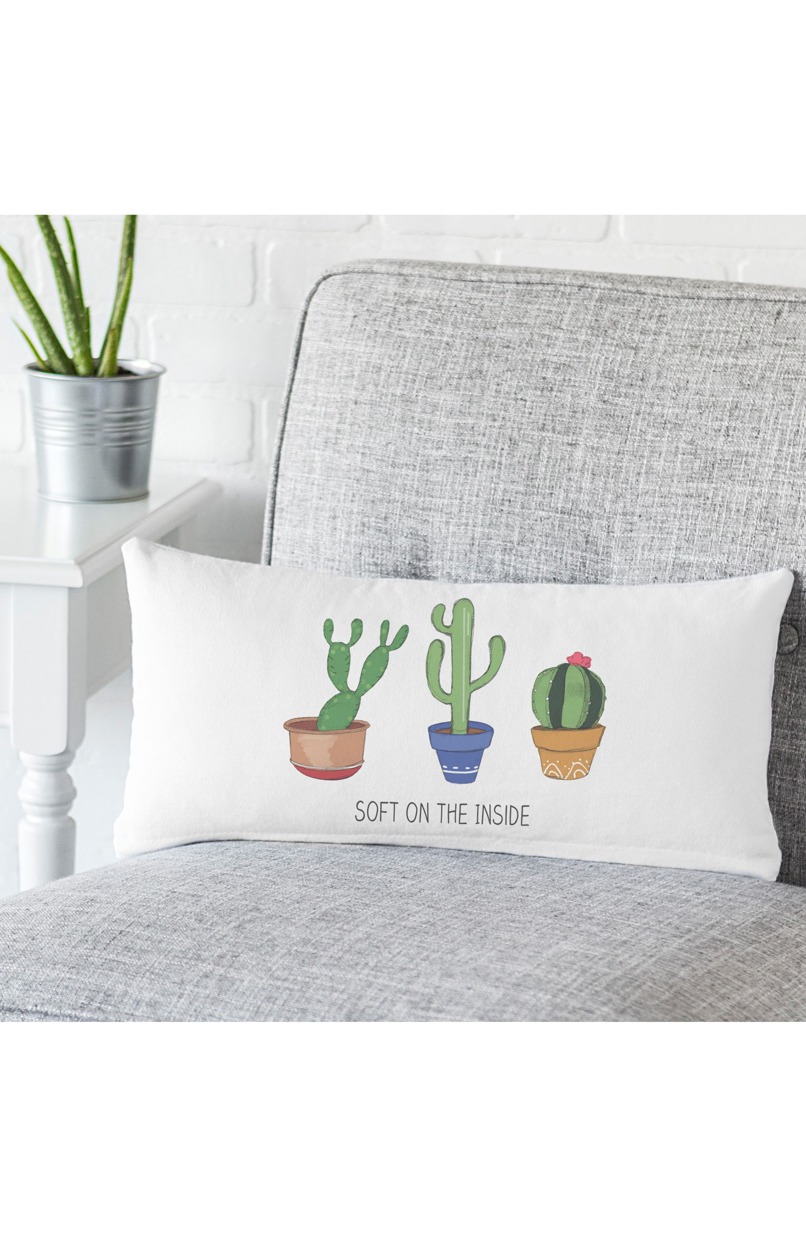 Cactus Accent Pillow,                             Alternate thumbnail 2, color,                             100