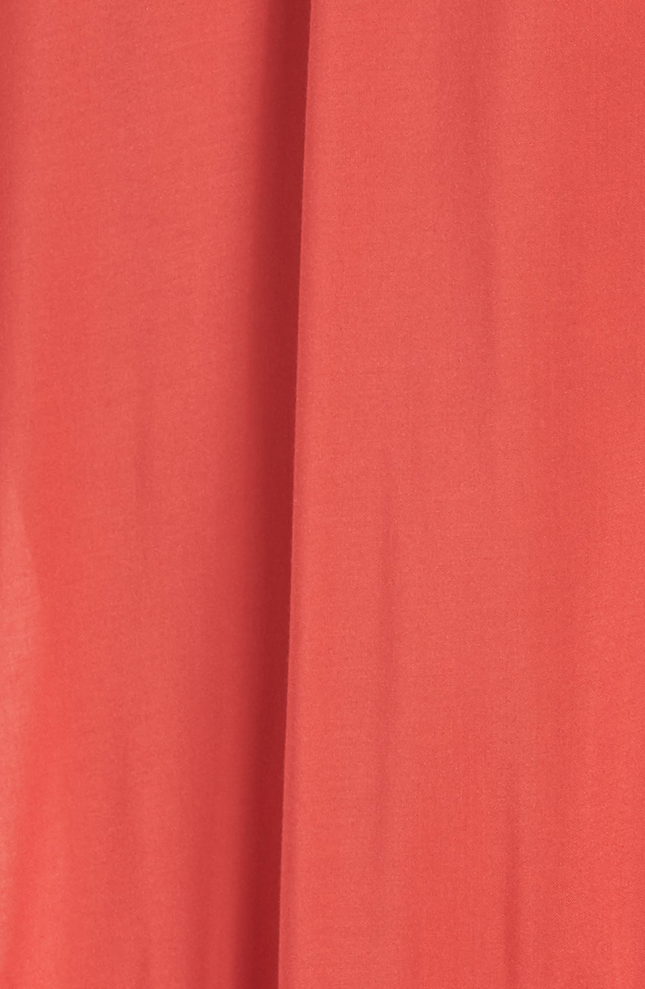 Maxi Cover-Up Dress,                             Alternate thumbnail 5, color,                             CORAL