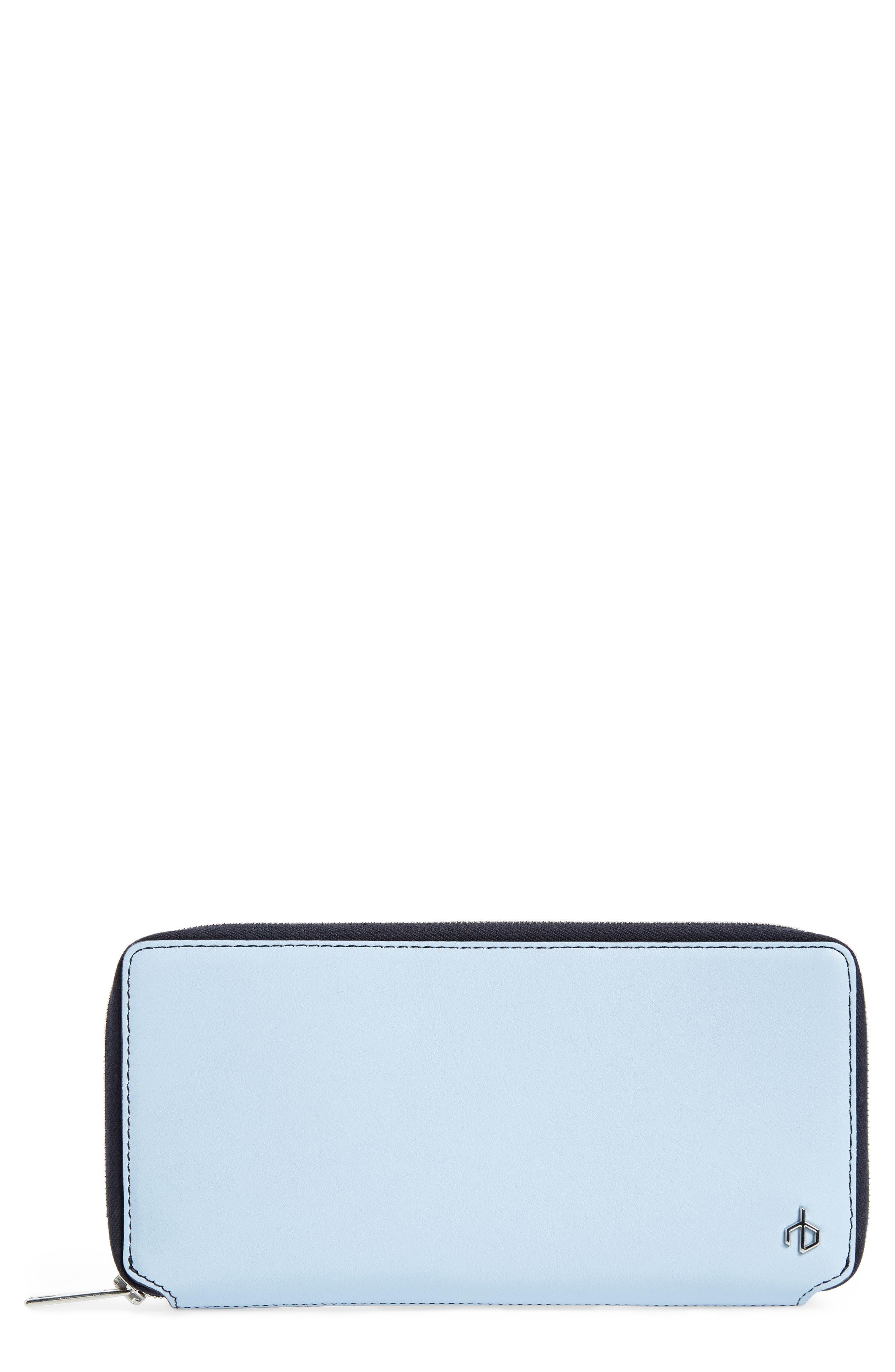 Calfskin Leather Zip-Around Wallet,                         Main,                         color, 402