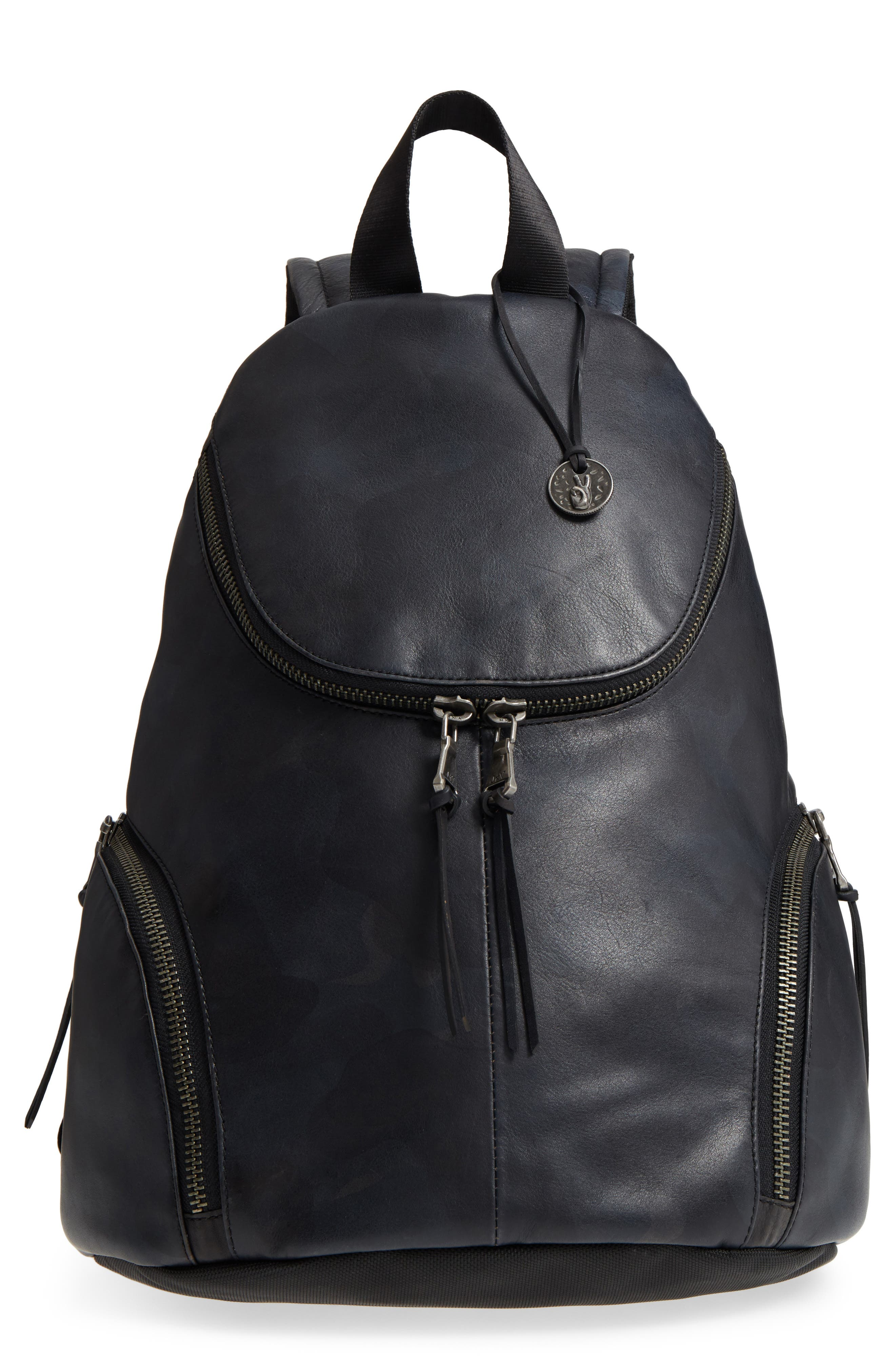 Brooklyn Suede Backpack,                             Main thumbnail 1, color,                             MIDNIGHT